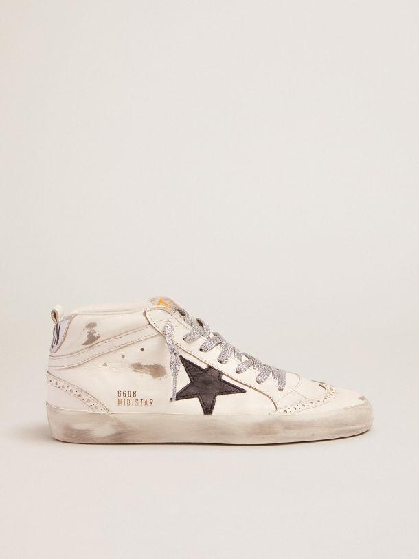 Mid-Star sneakers with laminated heel tab and glittery laces
