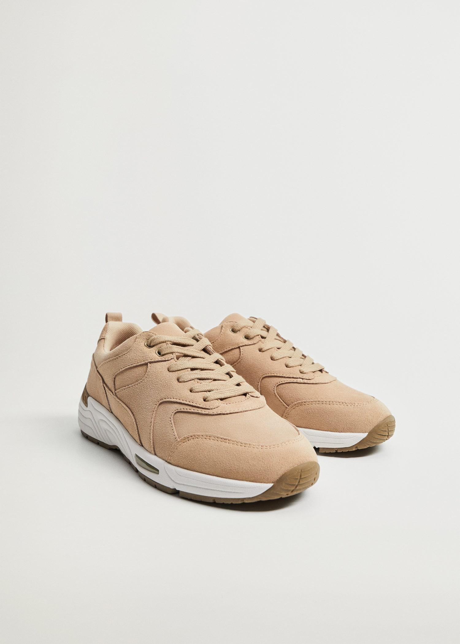 Contrast sole leather sport shoes 1