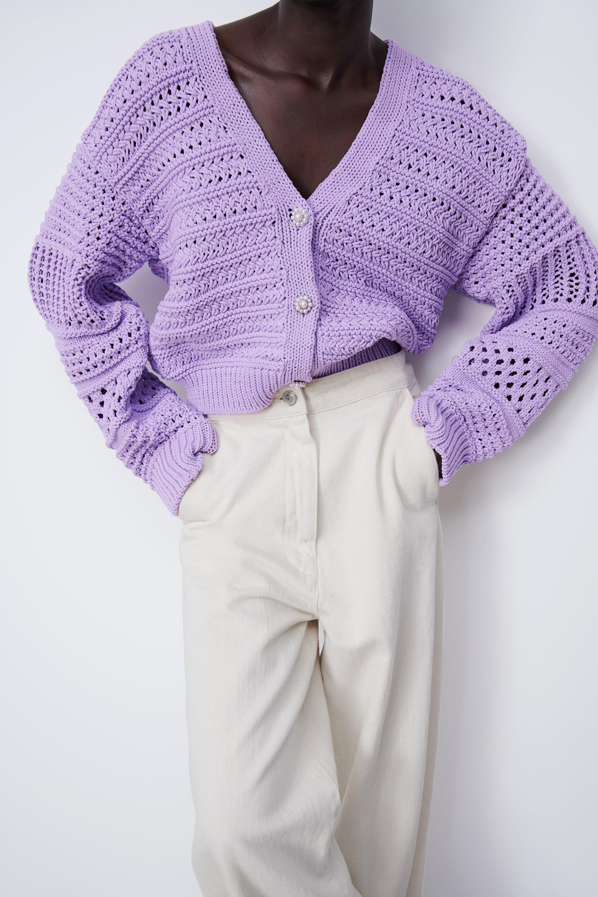 KNIT CARDIGAN WITH PEARL BUTTON 2