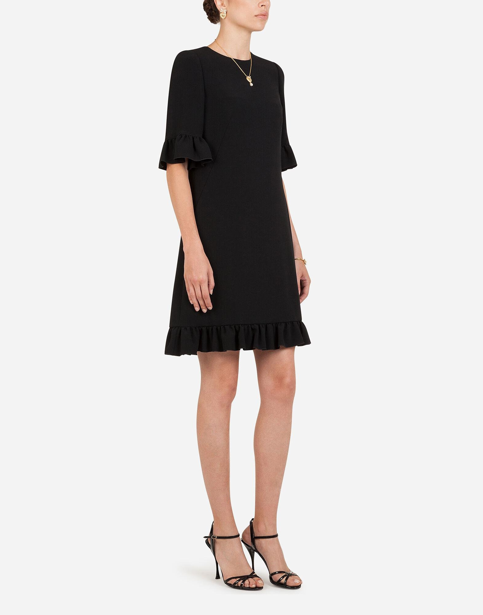 Short cady dress with ruche detailing 3
