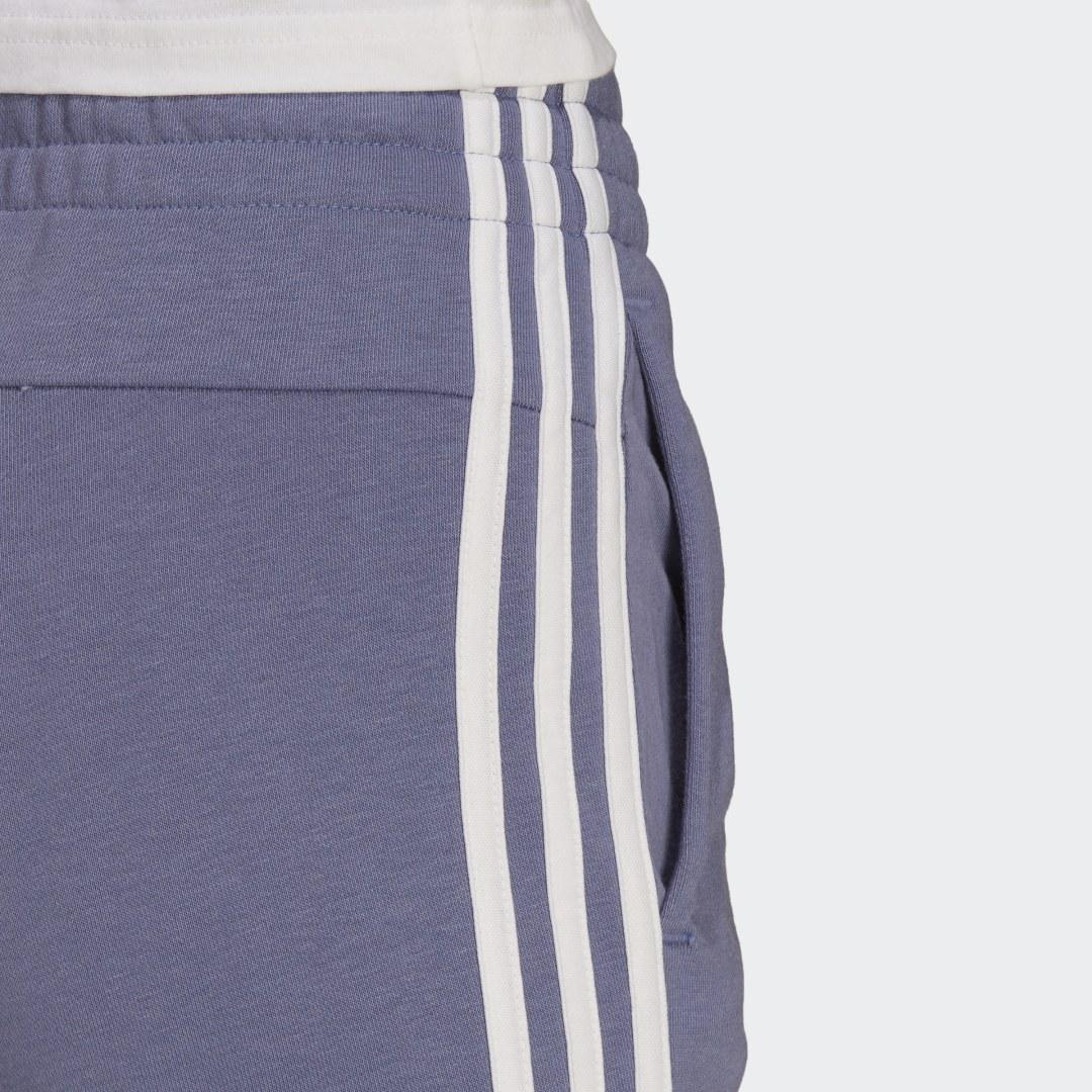 Essentials French Terry 3-Stripes Pants Orbit Violet 6