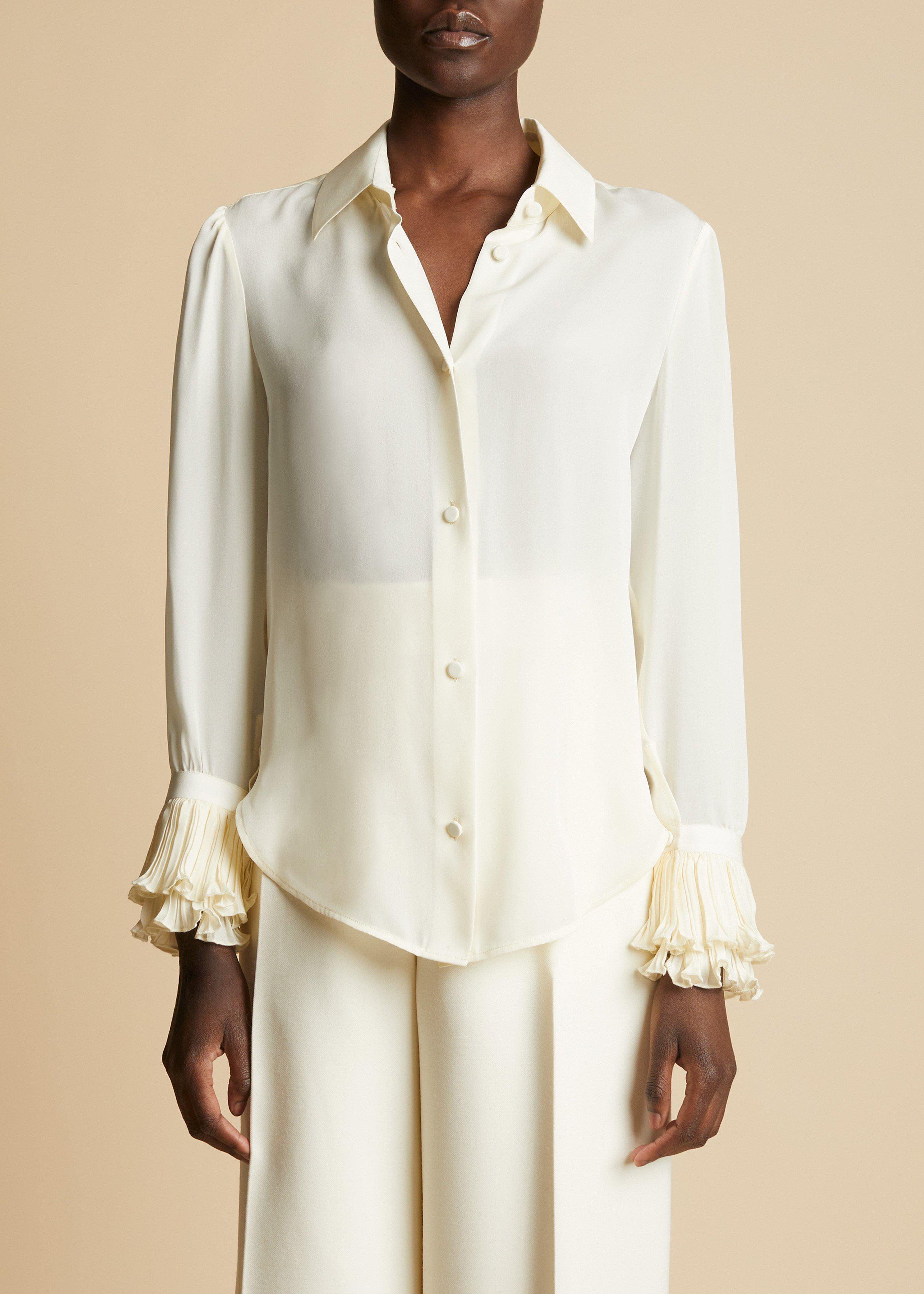 The Mary Top in Ivory