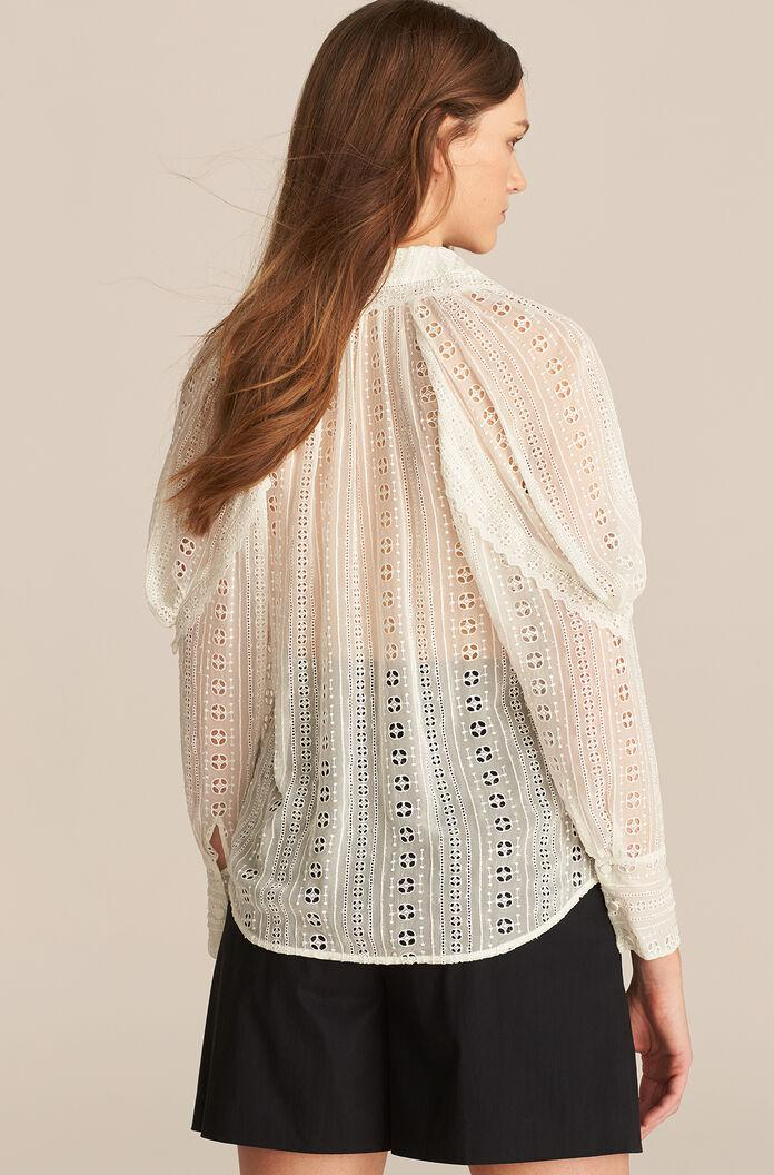 LONG SLEEVE GEO EMBROIDERED BLOUSE 1