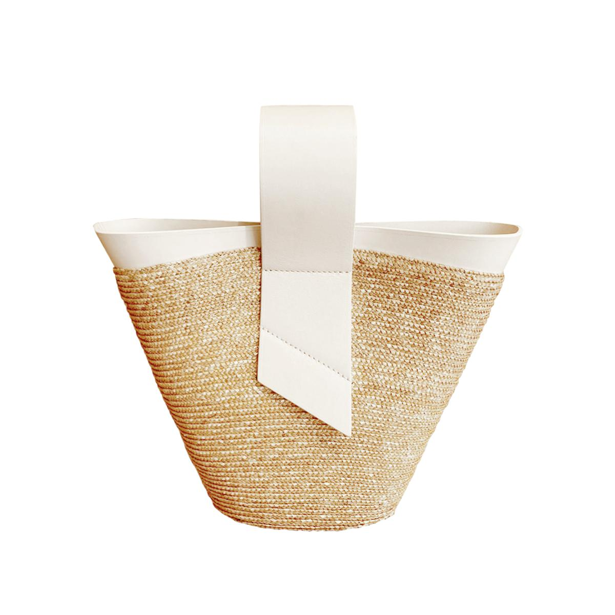Amphora Straw and Leather White