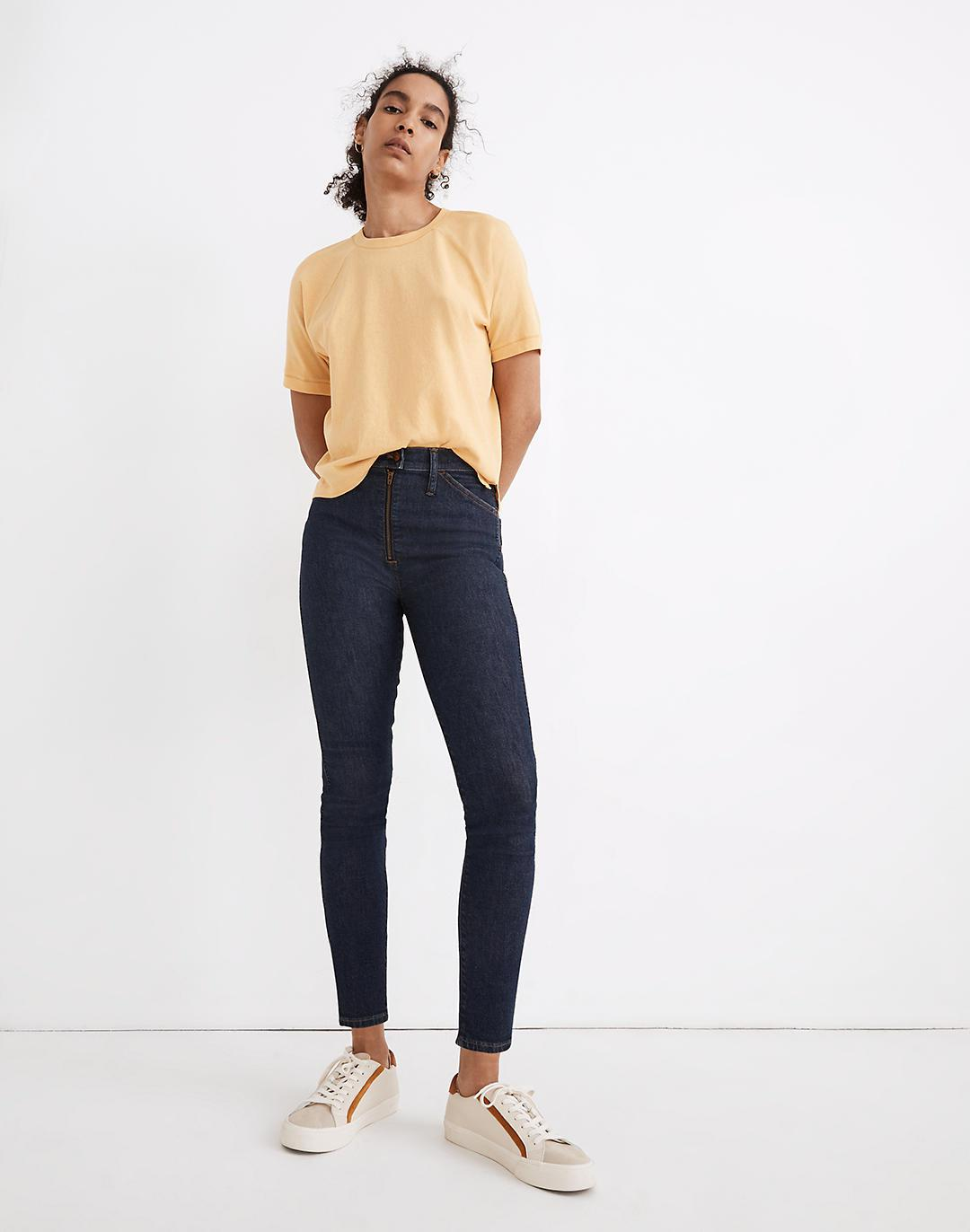 """10"""" High-Rise Skinny Crop Jeans in Macarthur Wash: Exposed Zip Edition"""
