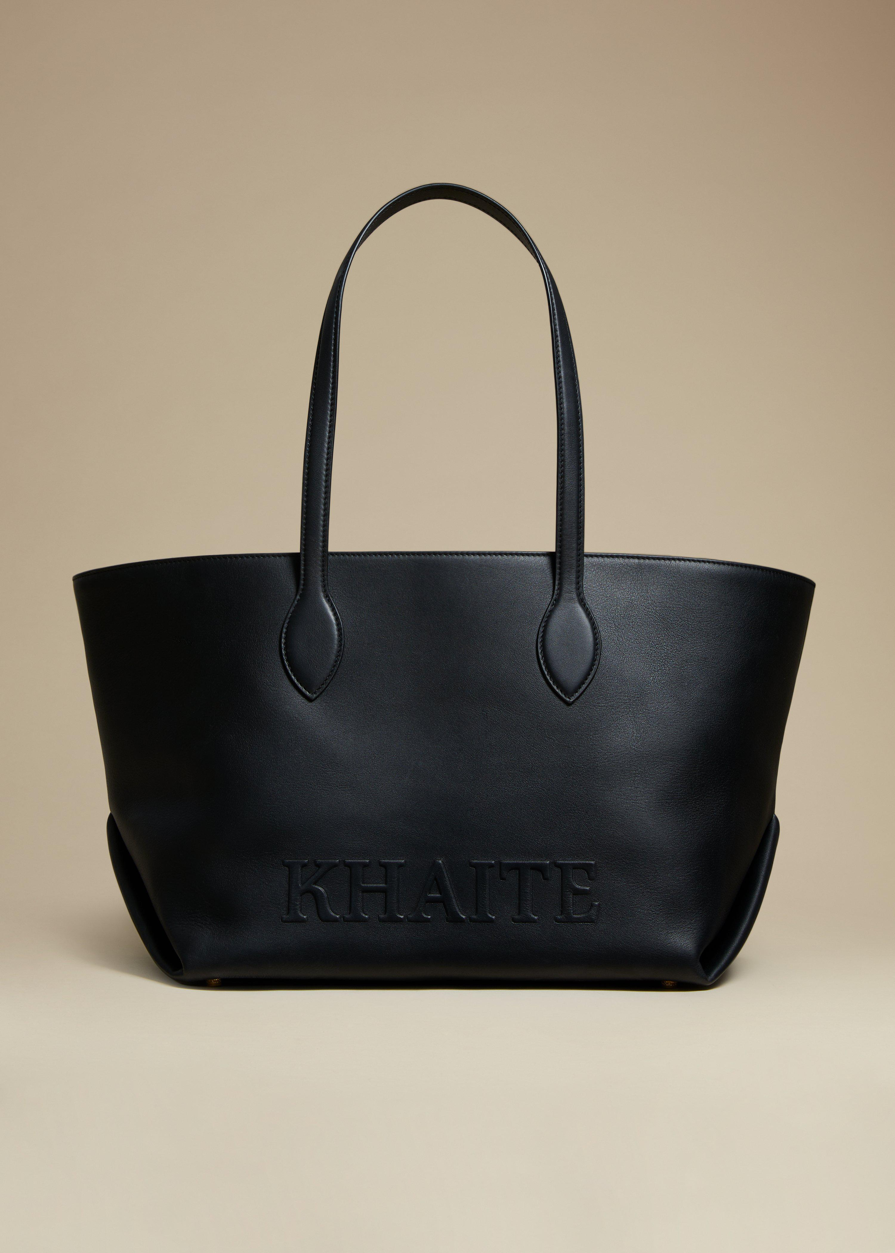 The Florence Tote in Black Leather