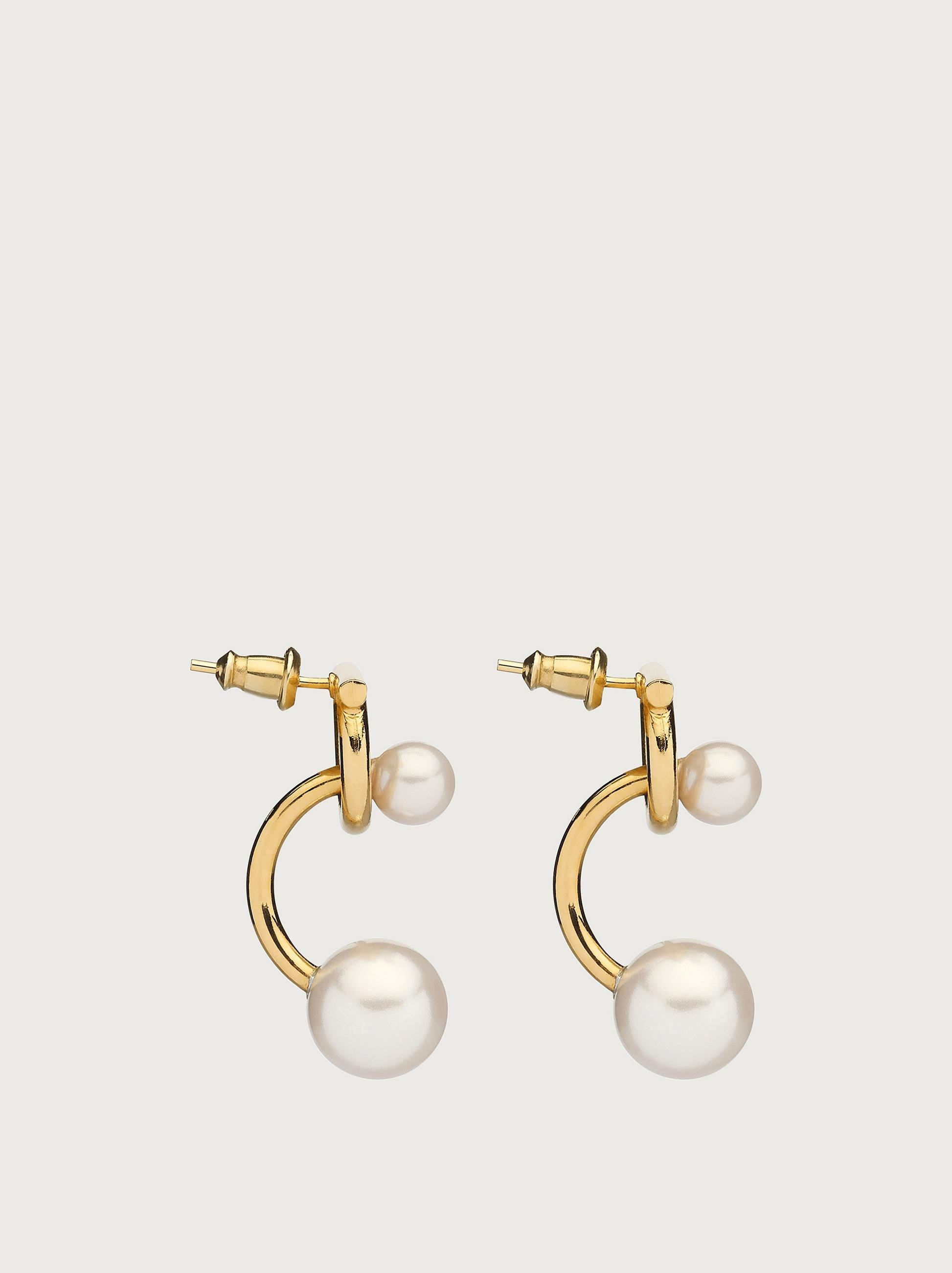 GANCINI EARRINGS WITH SYNTHETIC PEARLS 1