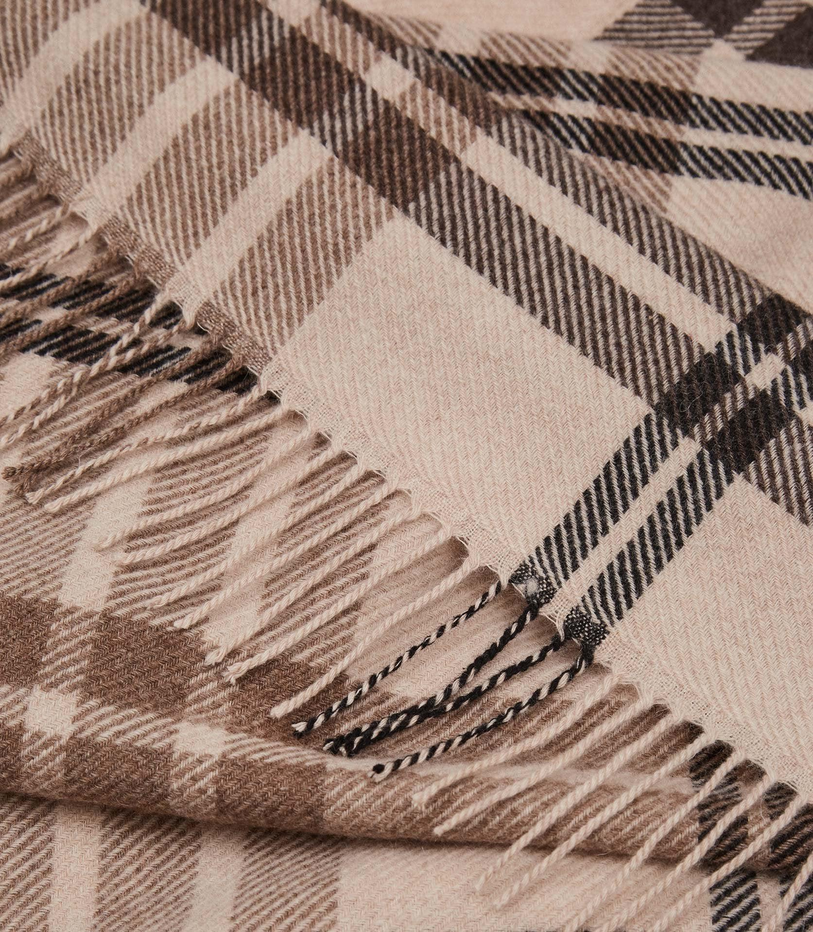 STEPH - WOOL CHECKED SCARF 3