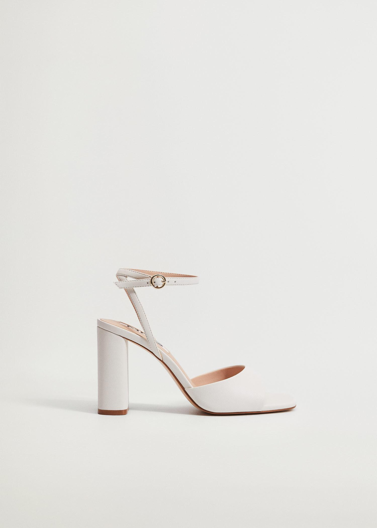Ankle-cuff heeled sandals