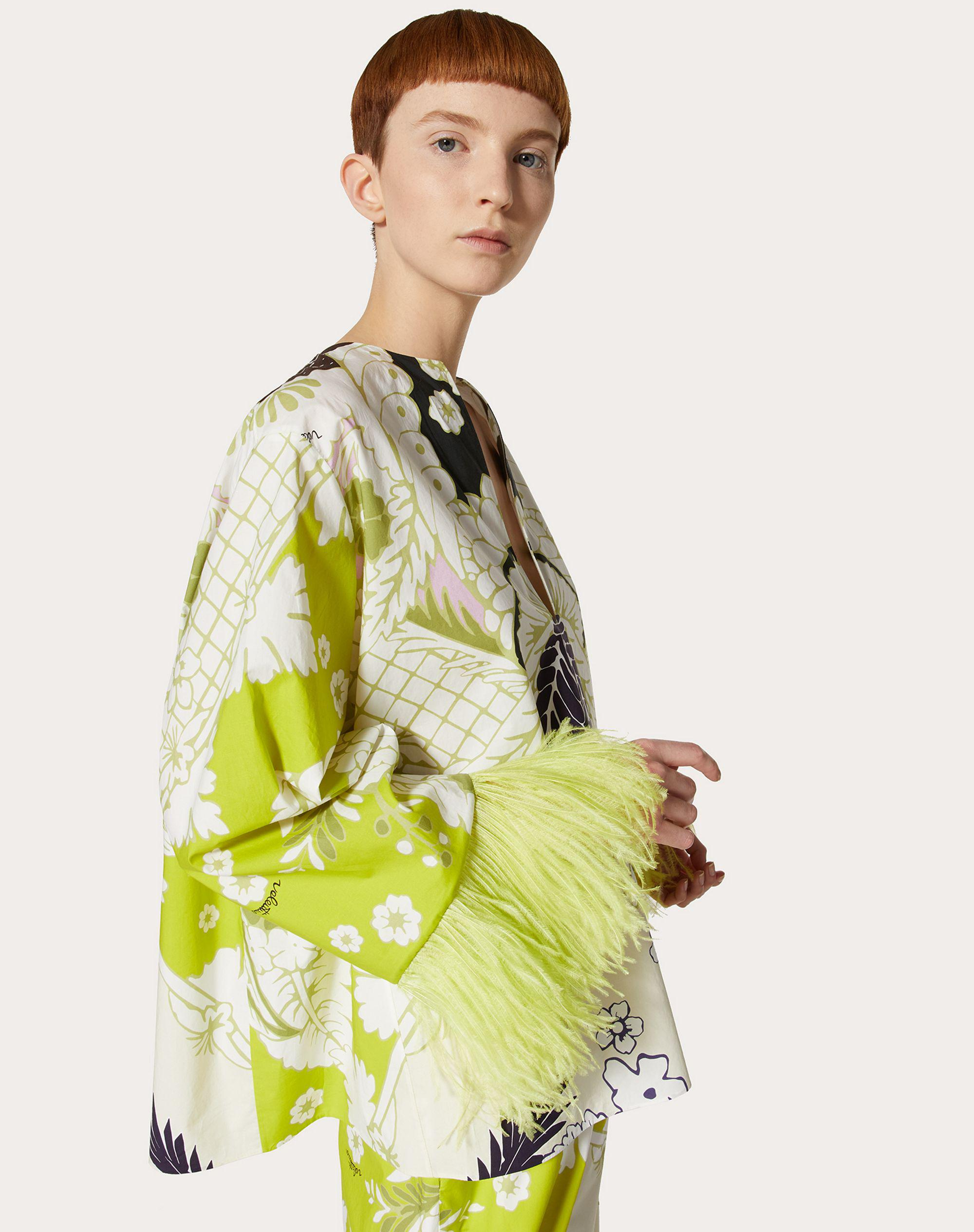 PRINTED POPLIN TOP WITH EMBROIDERY 3