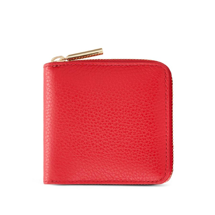 Women's Small Classic Zip Around Wallet in Lipstick | Pebbled Leather by Cuyana
