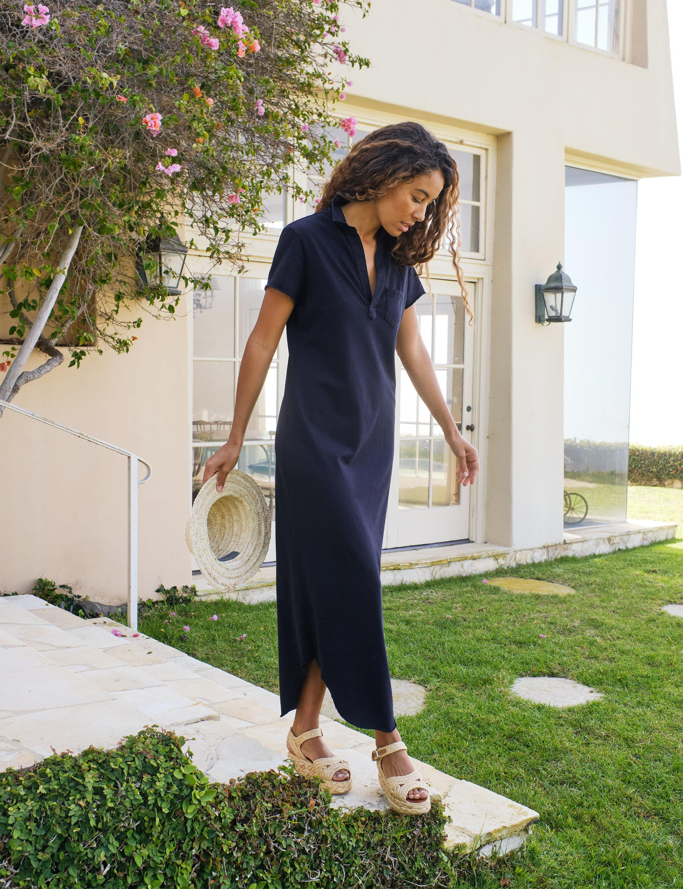 PERFECT POLO MAXI DRESS Heritage Jersey
