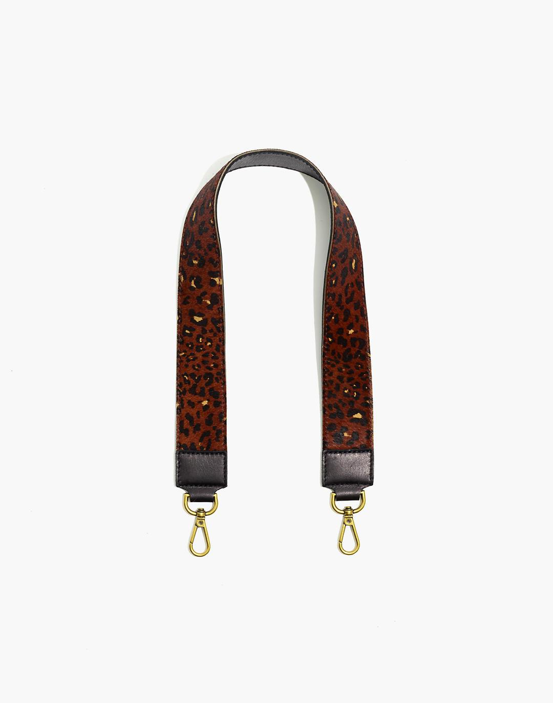 The Shoulder Bag Strap: Painted Leopard Calf Hair Edition