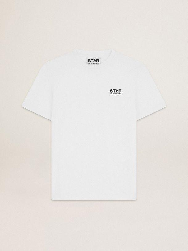White Star Collection T-shirt with contrasting black logo and star 4