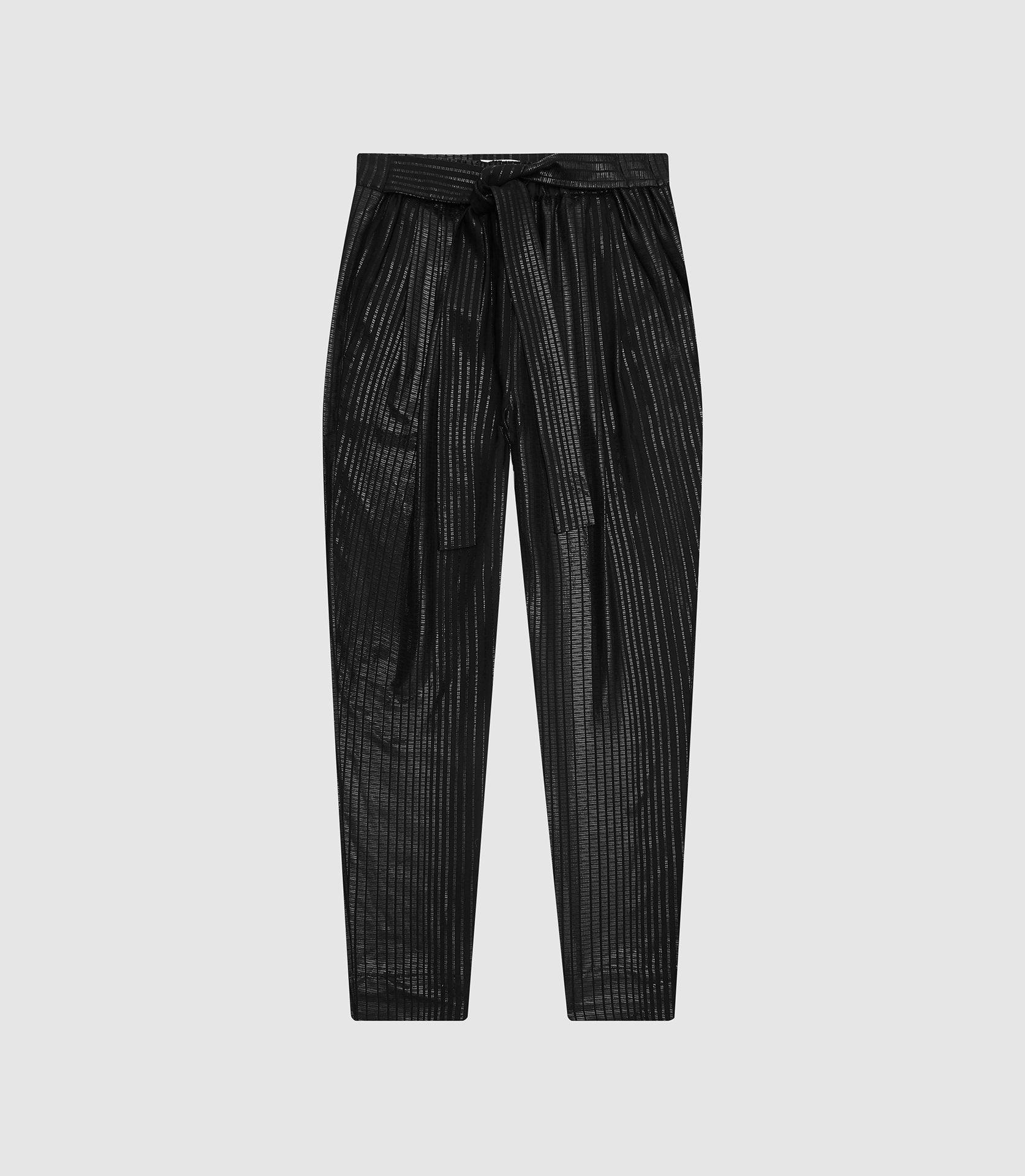 PENNIE - TAPERED SHIMMER TROUSERS 3