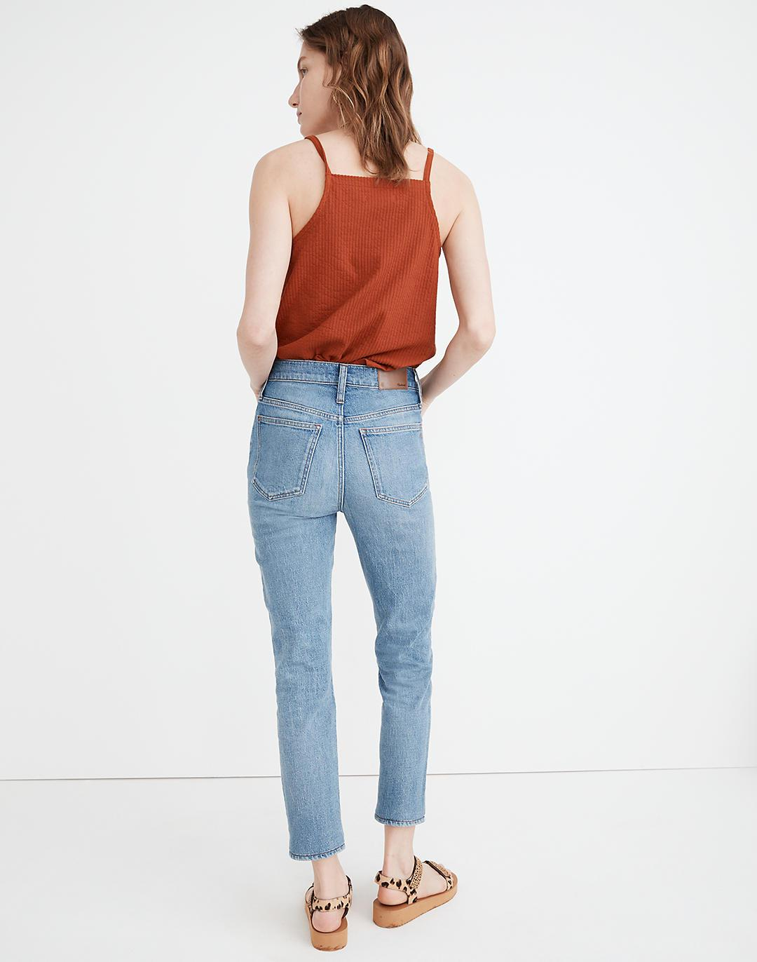 The Tall Perfect Vintage Crop Jean in Clymer Wash 2