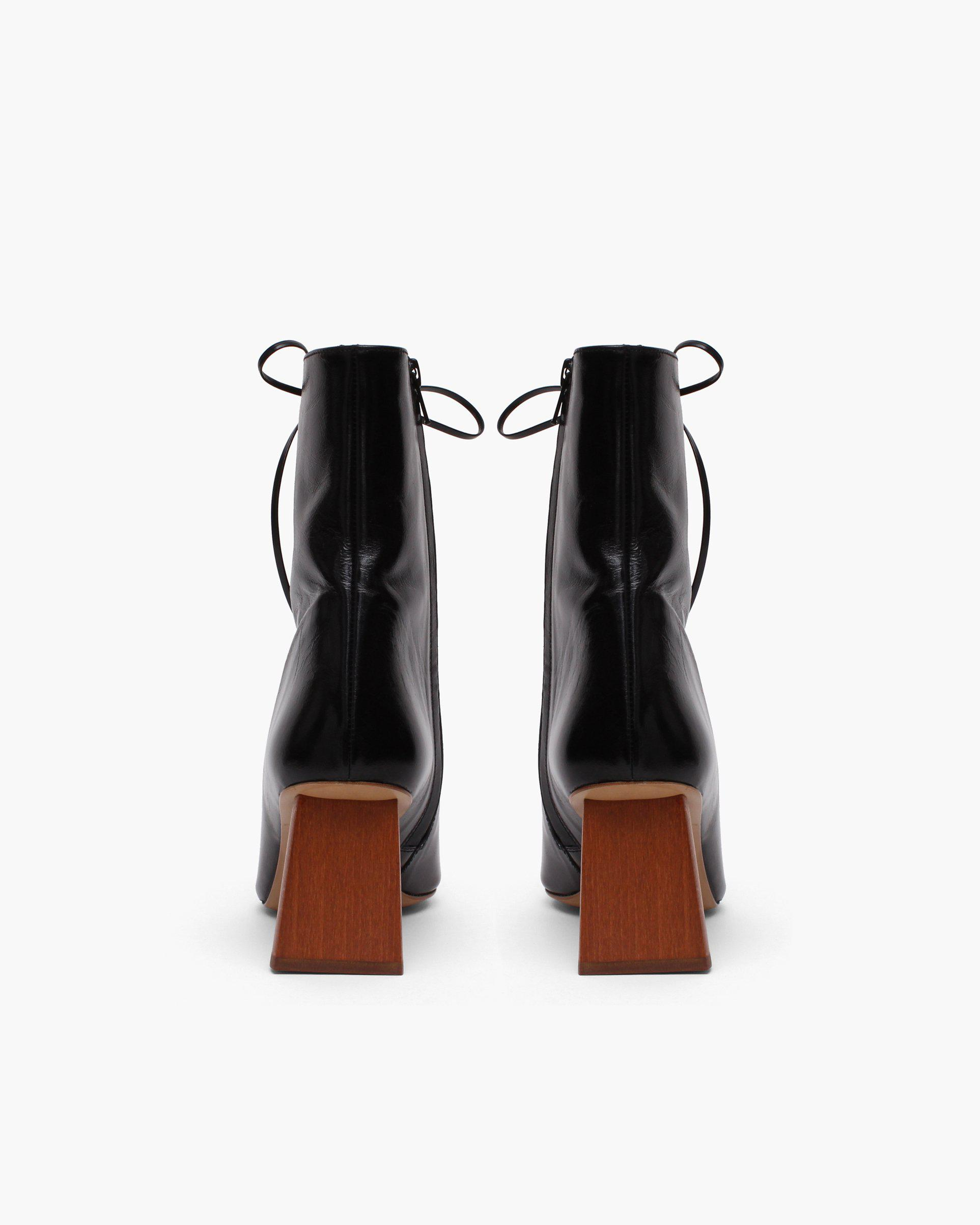 Peyton Boots Leather Patent Crinkle Black - SALE 2