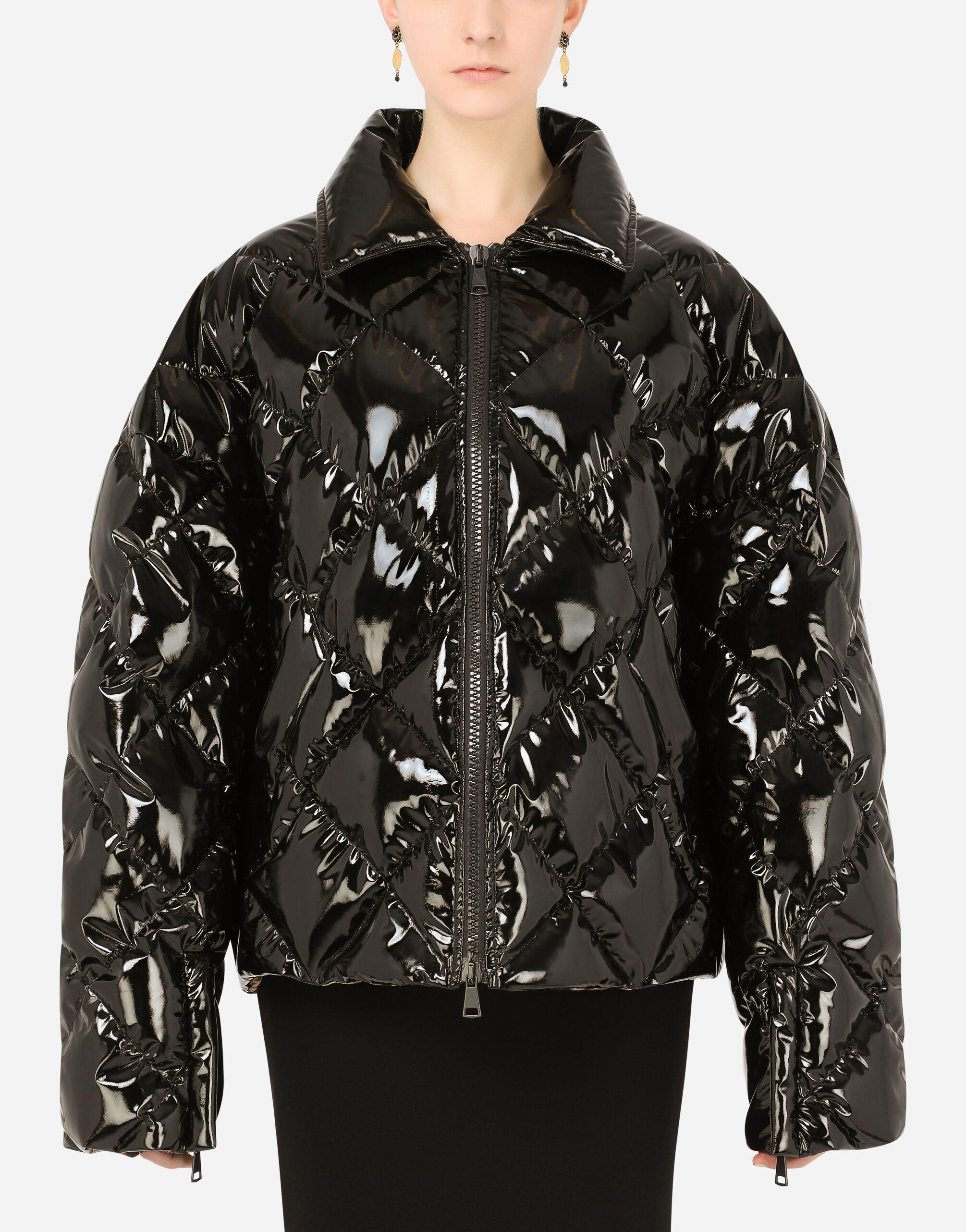 Quilted foiled nylon down jacket
