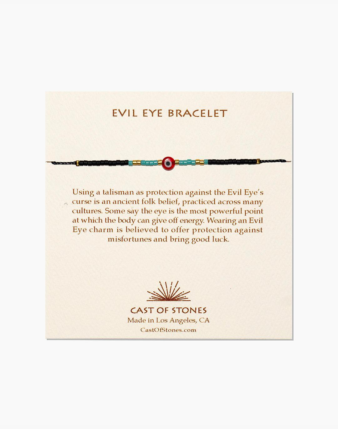Cast of Stones Evil Eye Bracelet in Red and Turquoise