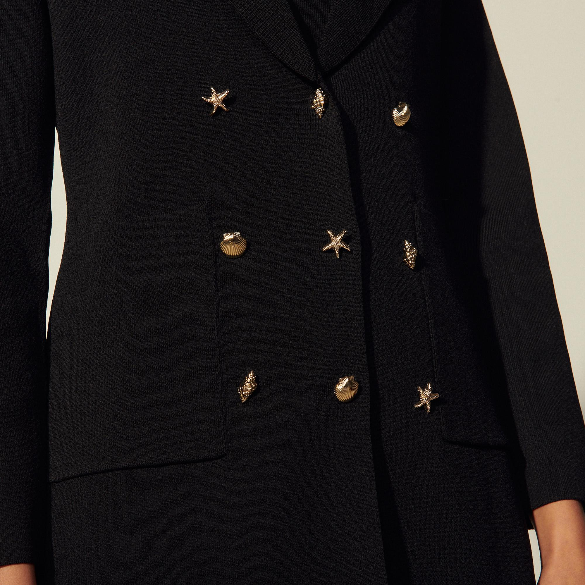 Cardicoat with three jewelled buttons 4