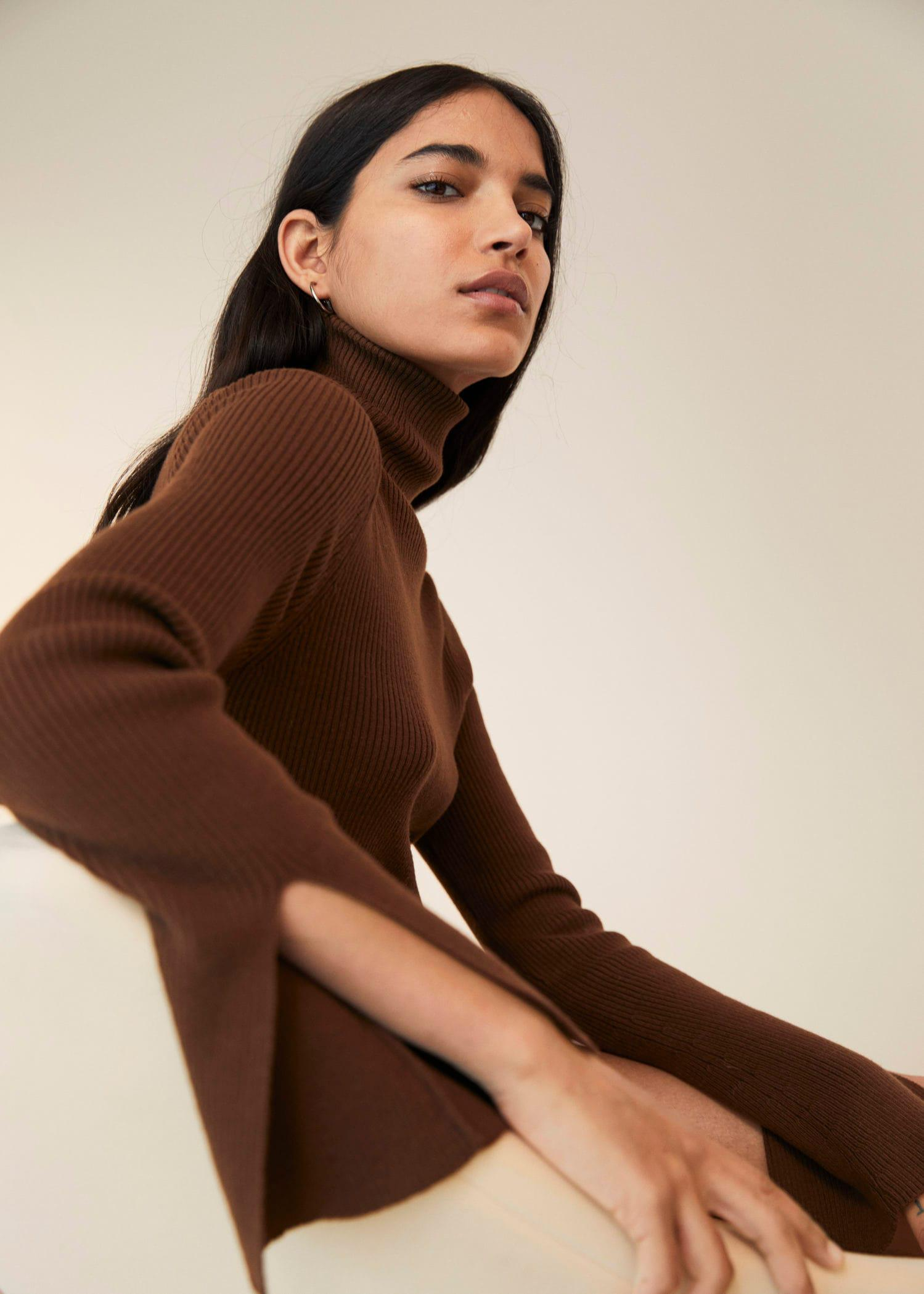Rolled neck cable sweater 5