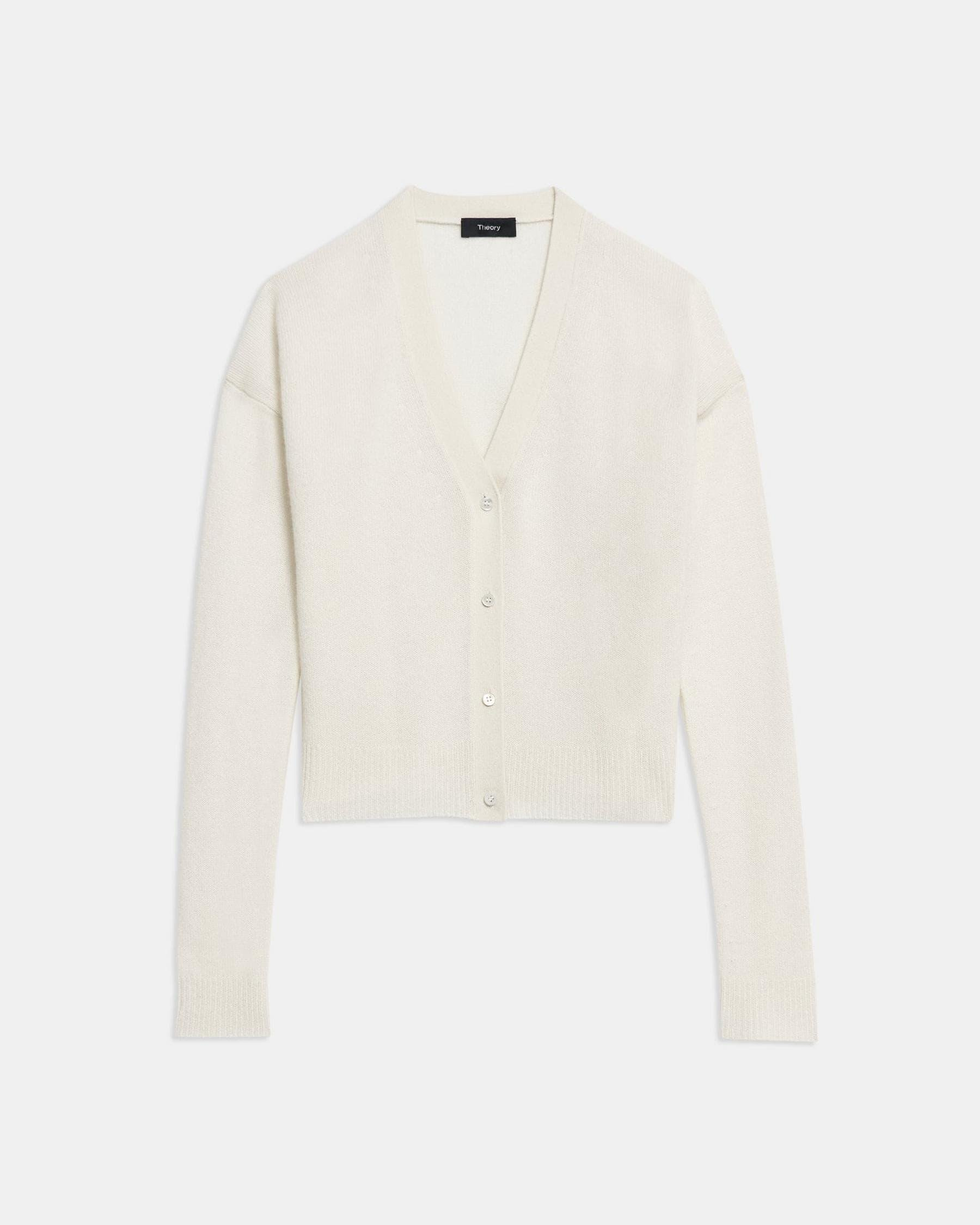 Cropped Cardigan in Feather Cashmere 4