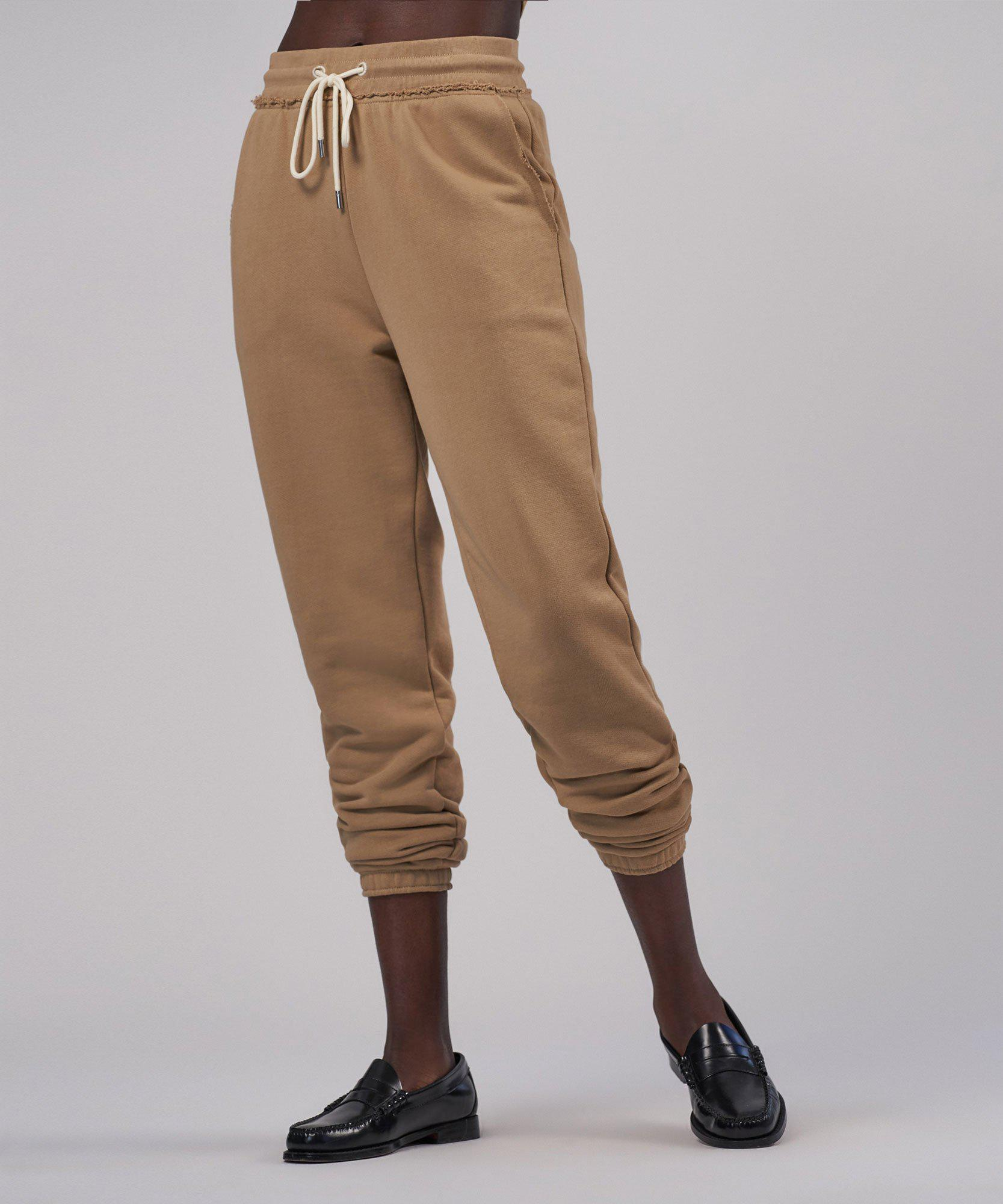 French Terry Pull-On Pant - Dune