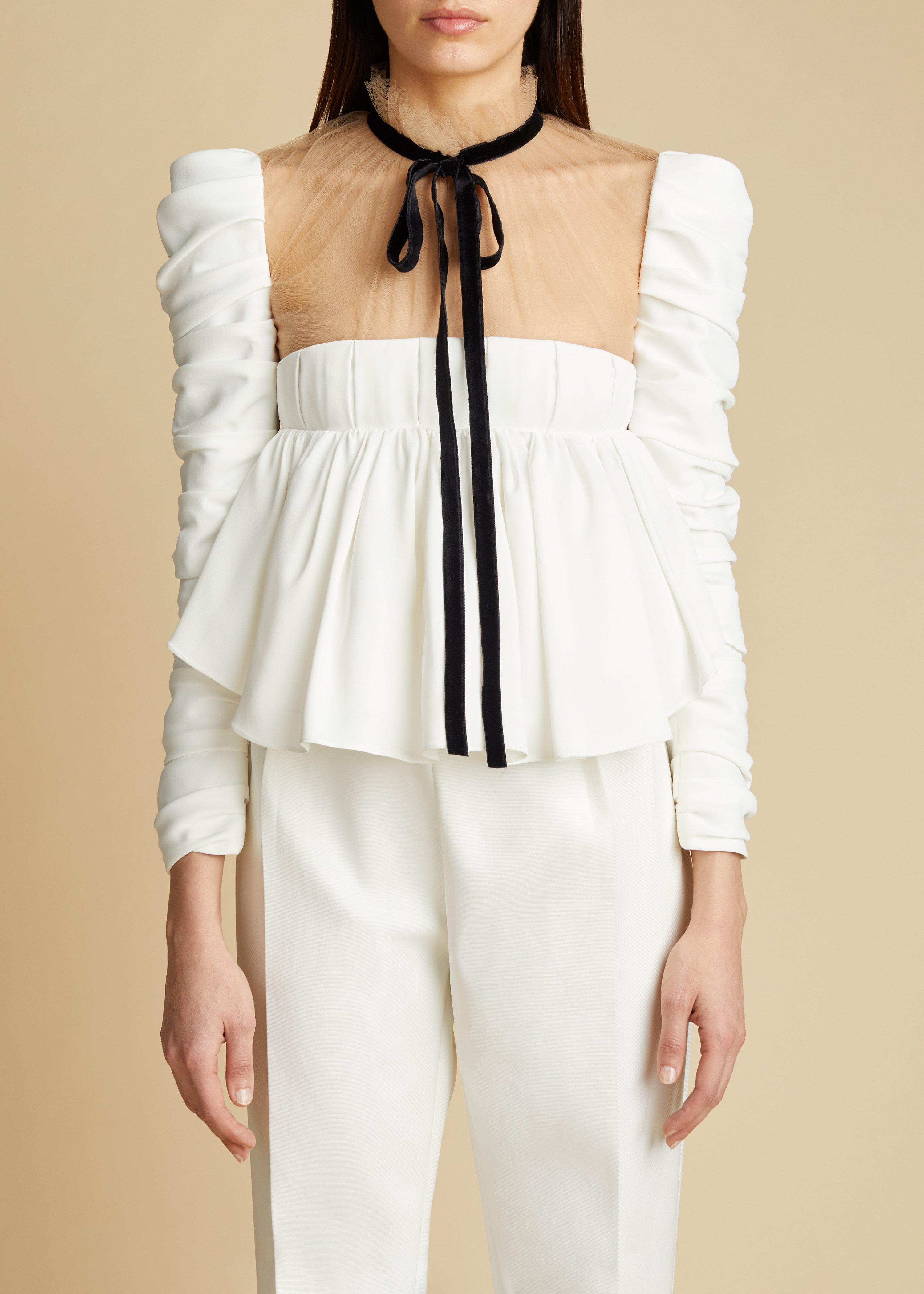 The Fanny Top in Ivory