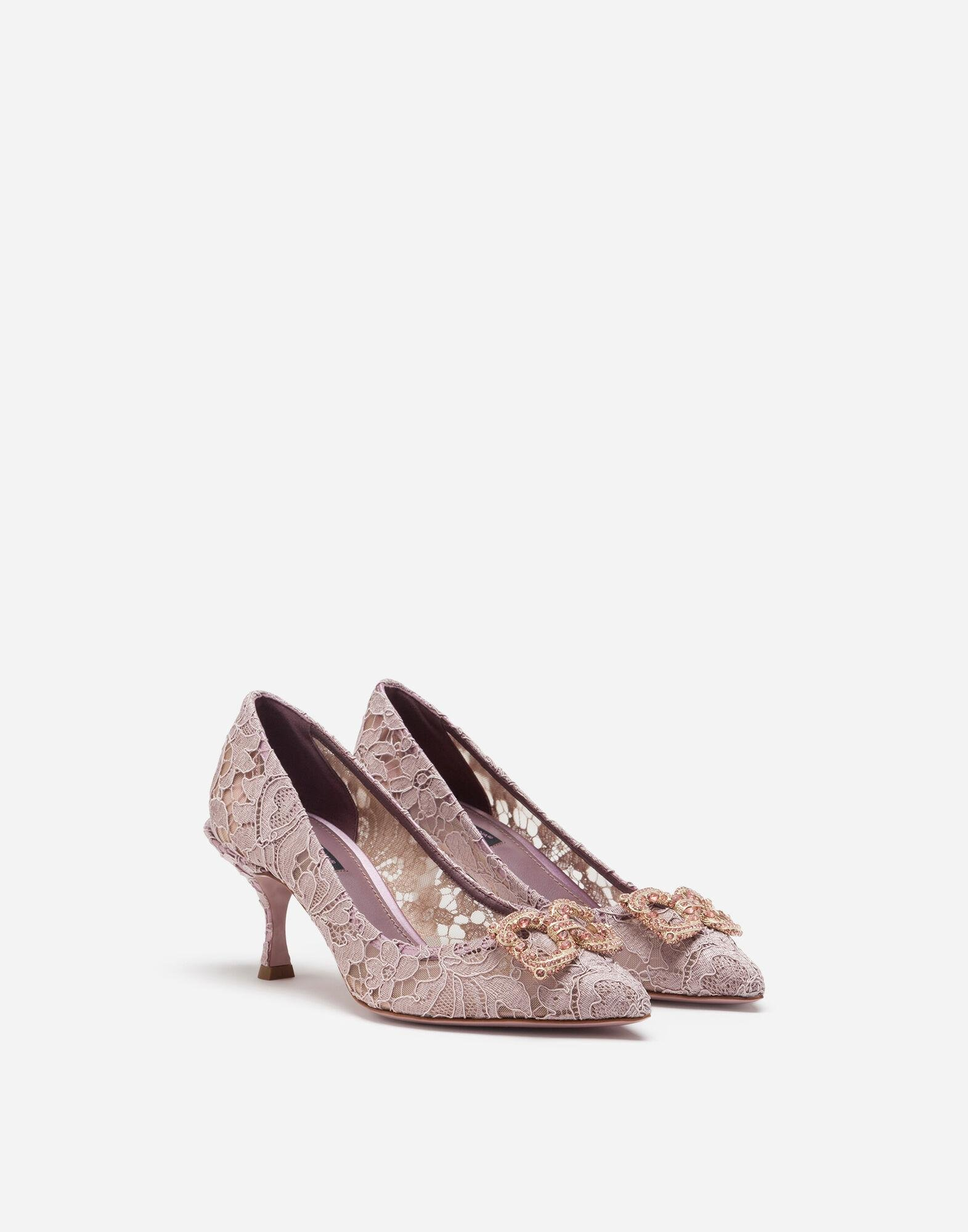 Taormina lace pumps with DG Amore logo 1