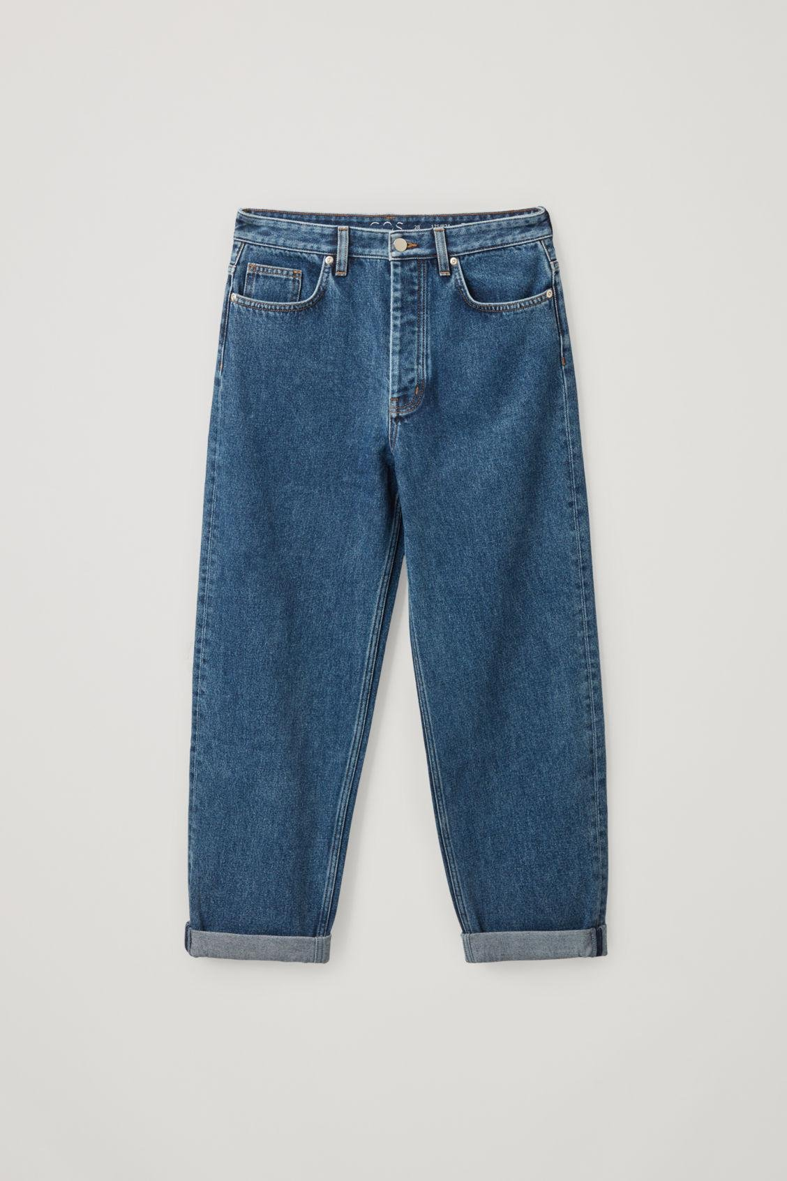 TAPERED HIGH-RISE JEANS