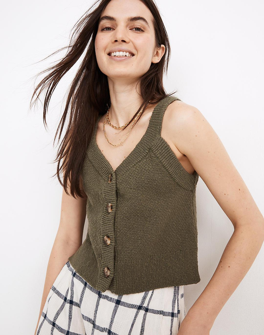 Wakefield Button-Front Sweater Tank