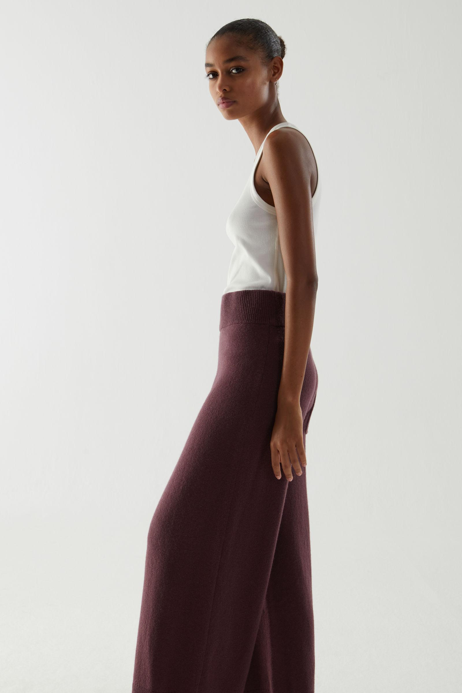 RECYCLED CASHMERE WIDE-LEG PANTS 2