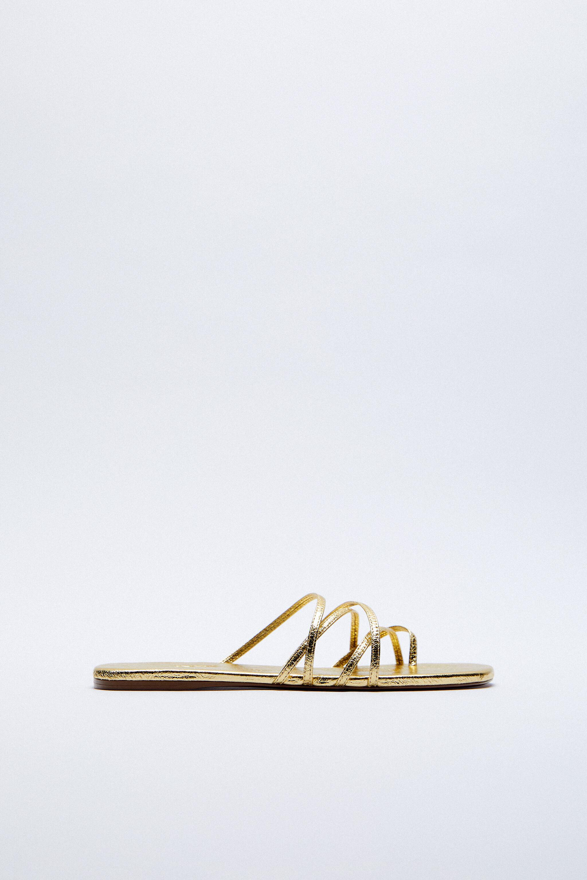 THIN STRAPPY FLAT SANDALS