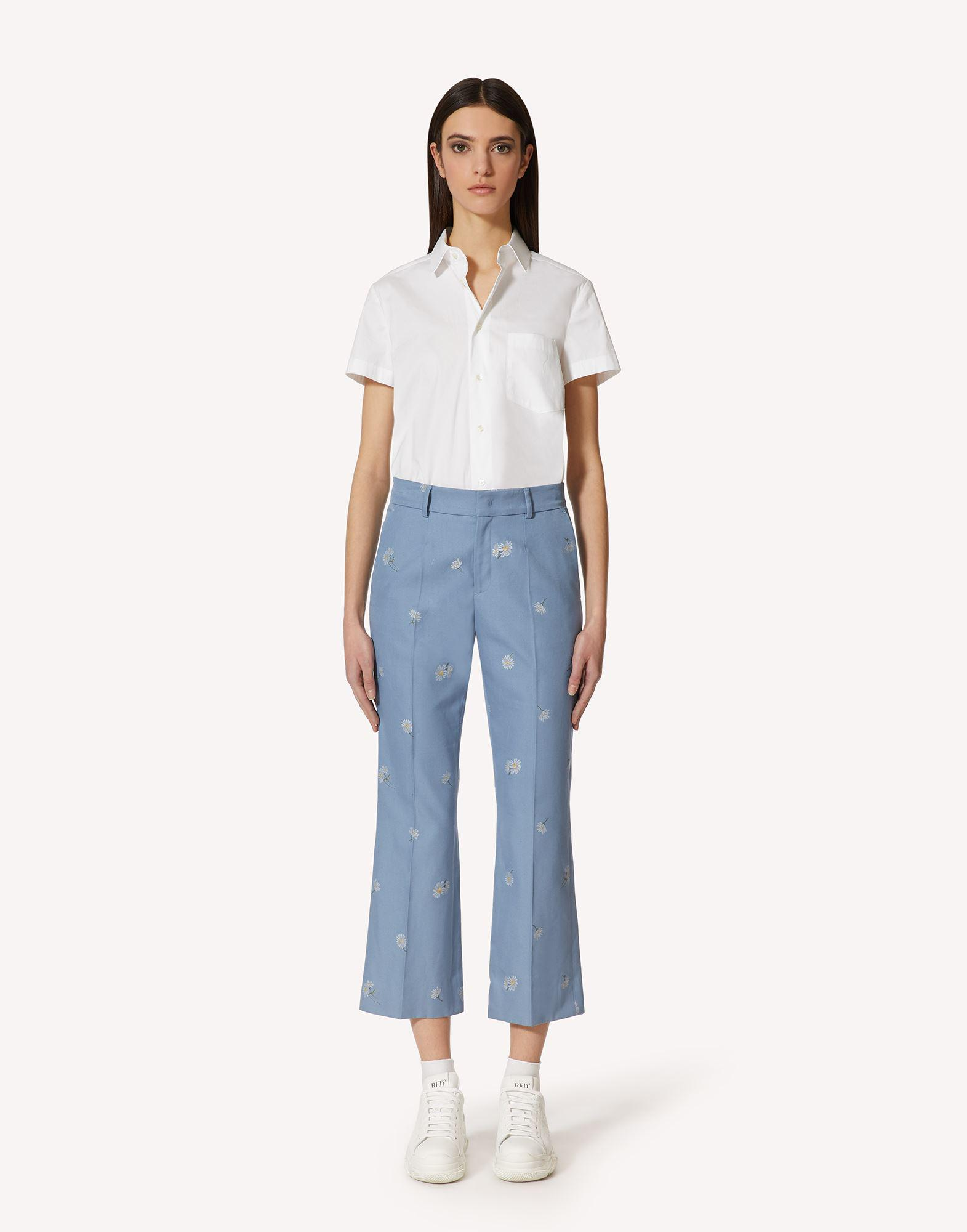COTTON POPLIN SHIRT WITH BOW DETAILS