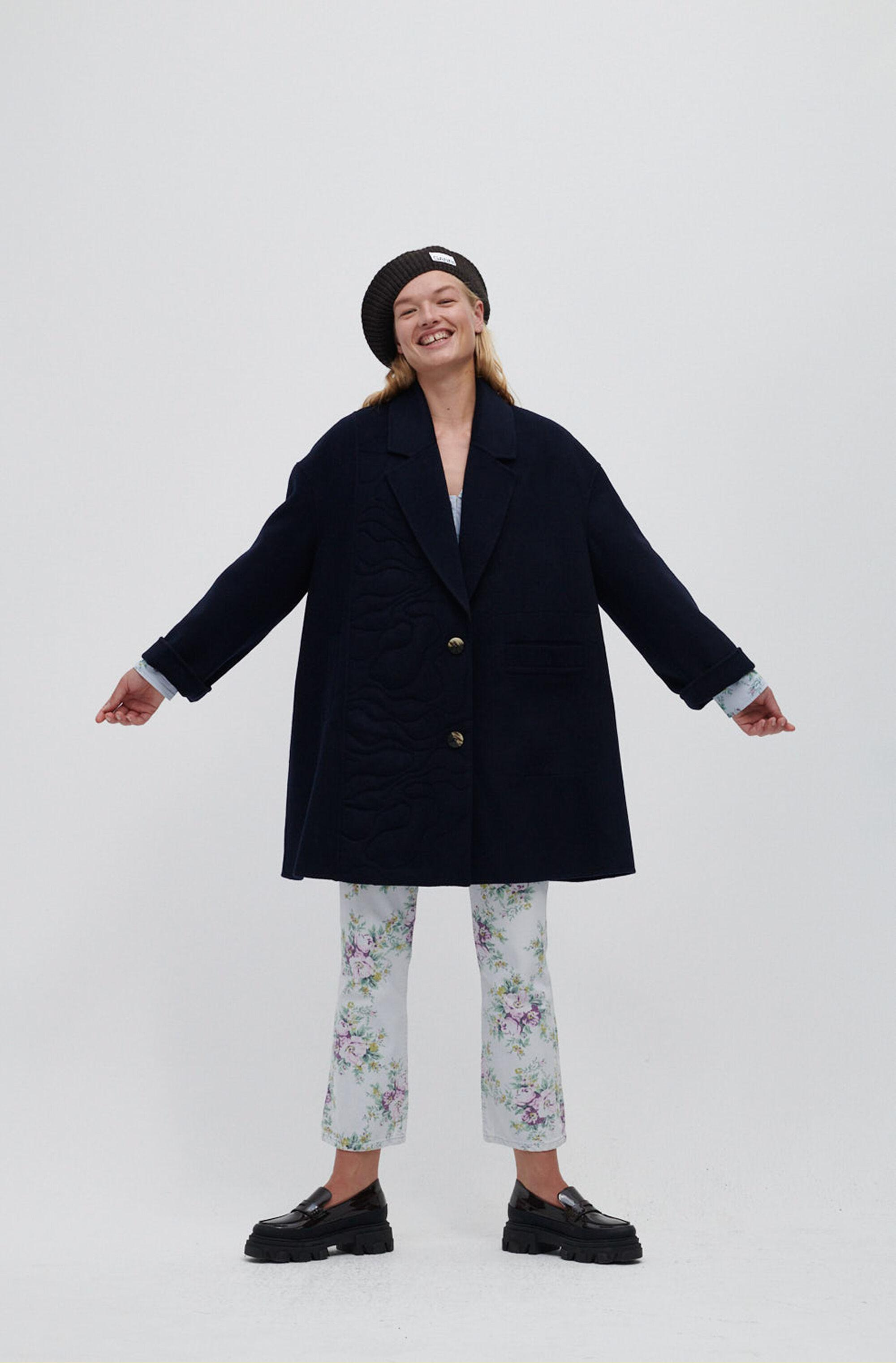 Recycled Wool Blend Oversized Jacket