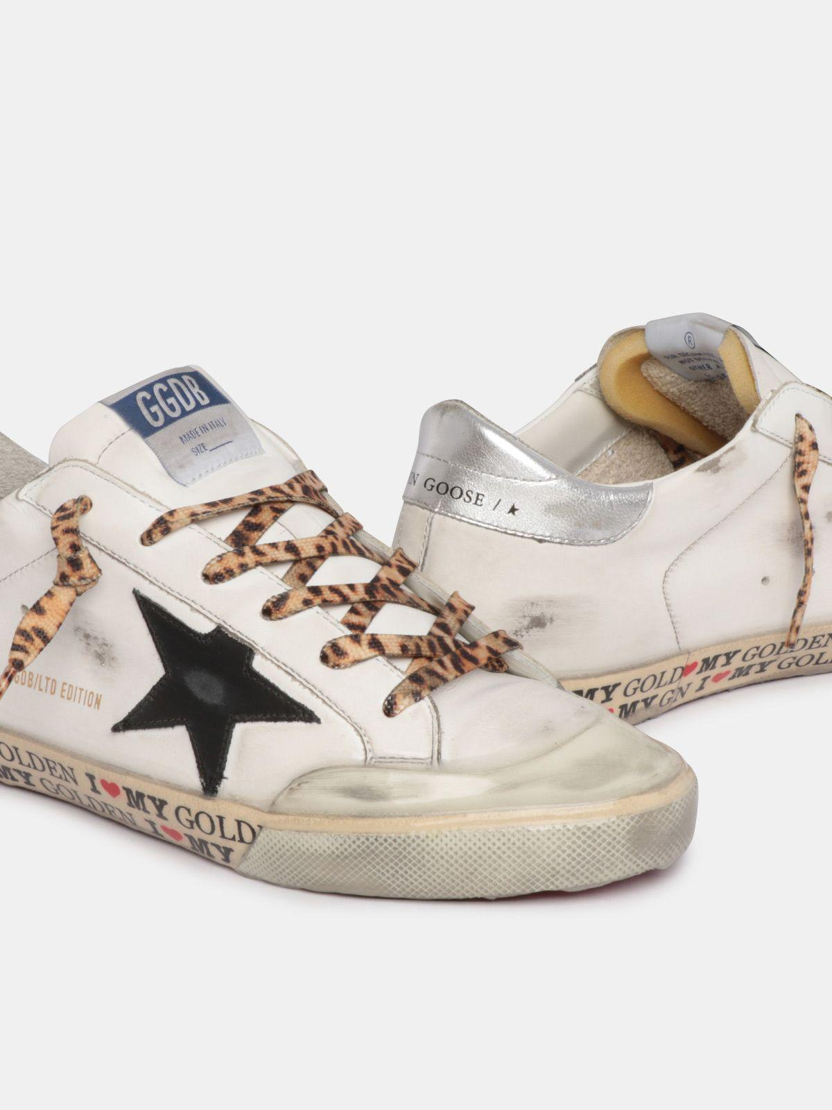 LTD Super-Star sneakers with decorations on the foxing and leopard-print laces 3