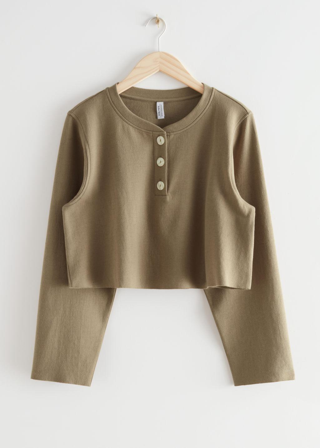 Buttoned Boxy Cotton Top