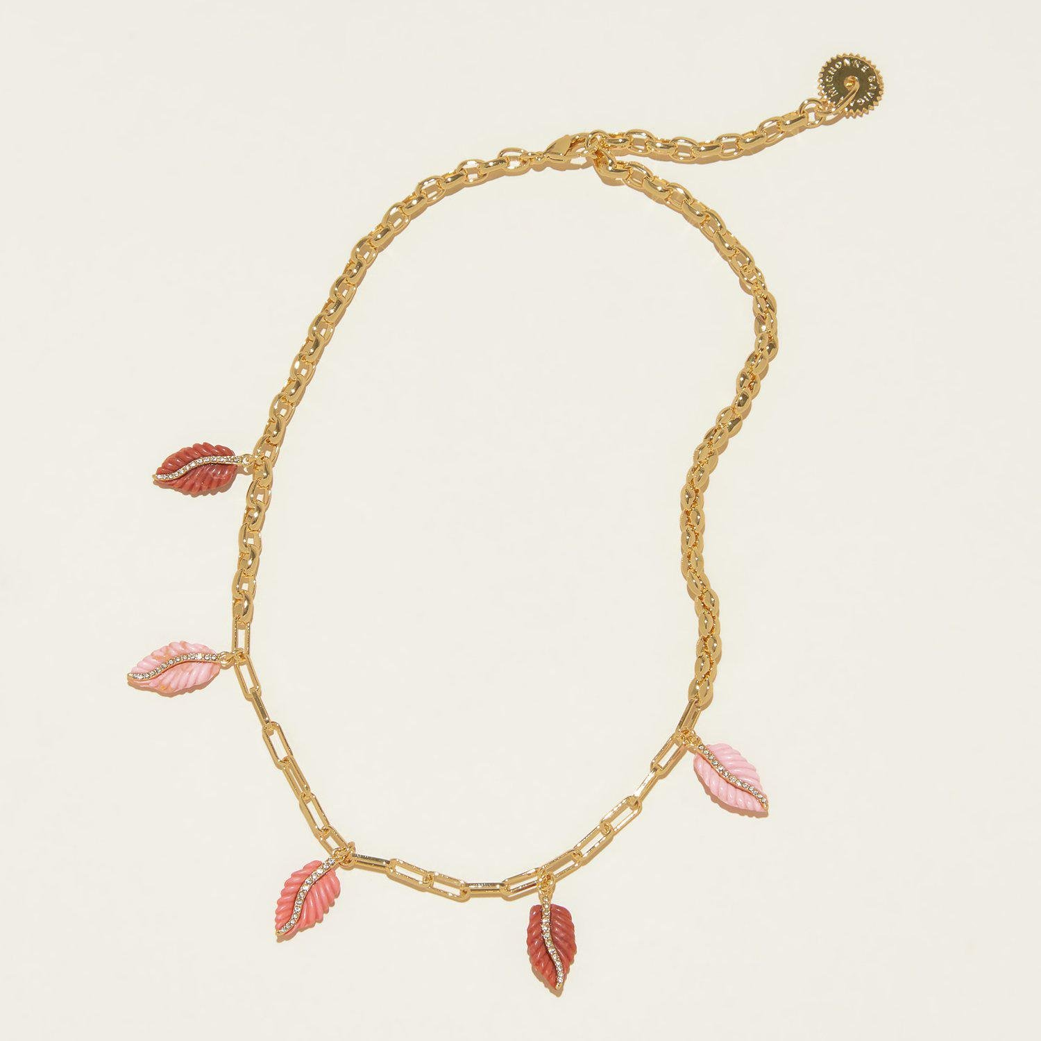 Aila Charm Necklace Coral