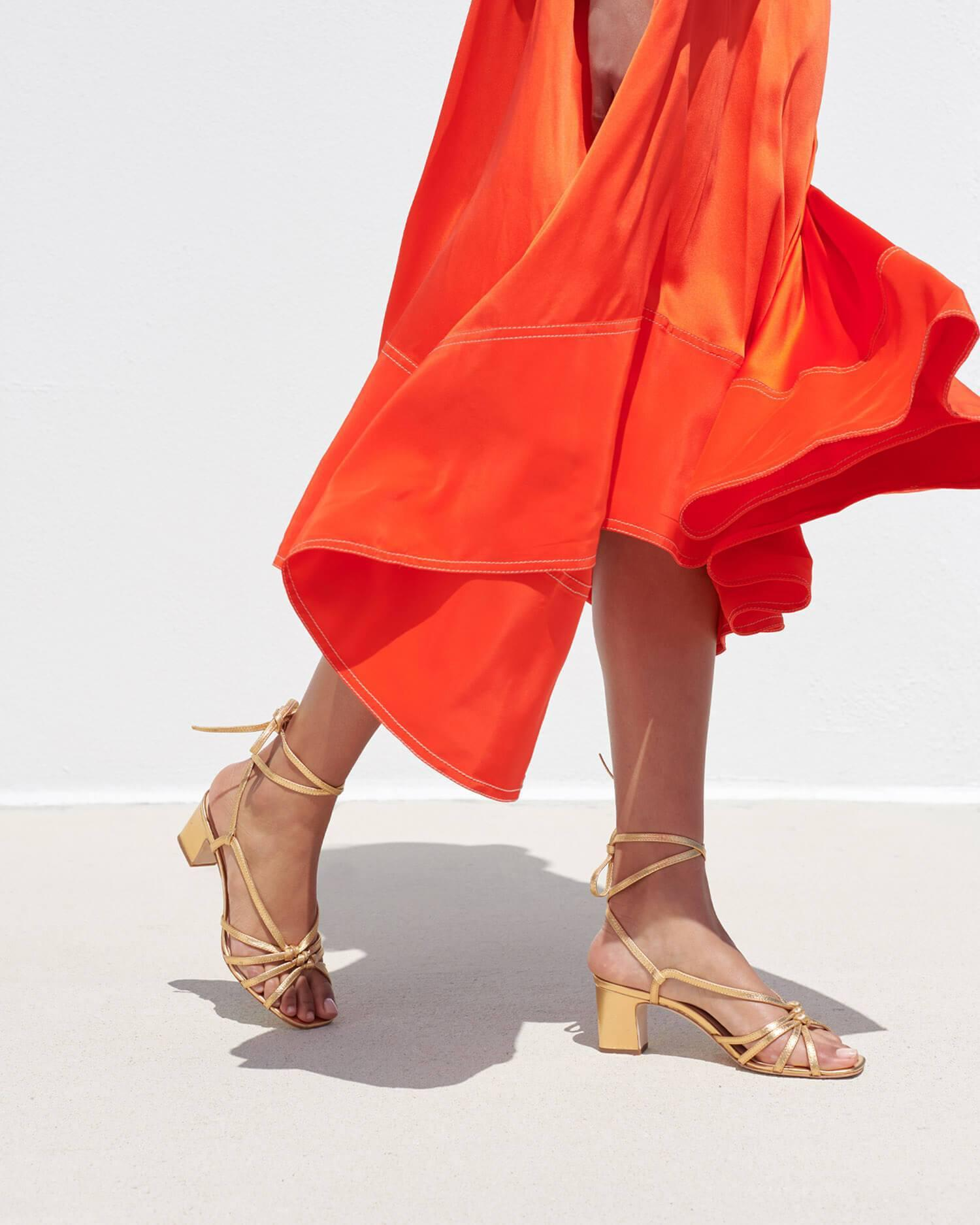 Libby Knotted Wrap Sandal Gold 4