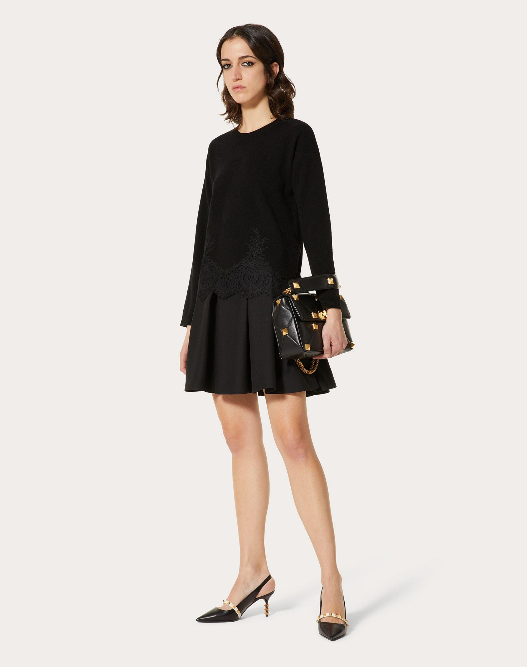 CASHMERE WOOL AND LACE SWEATER