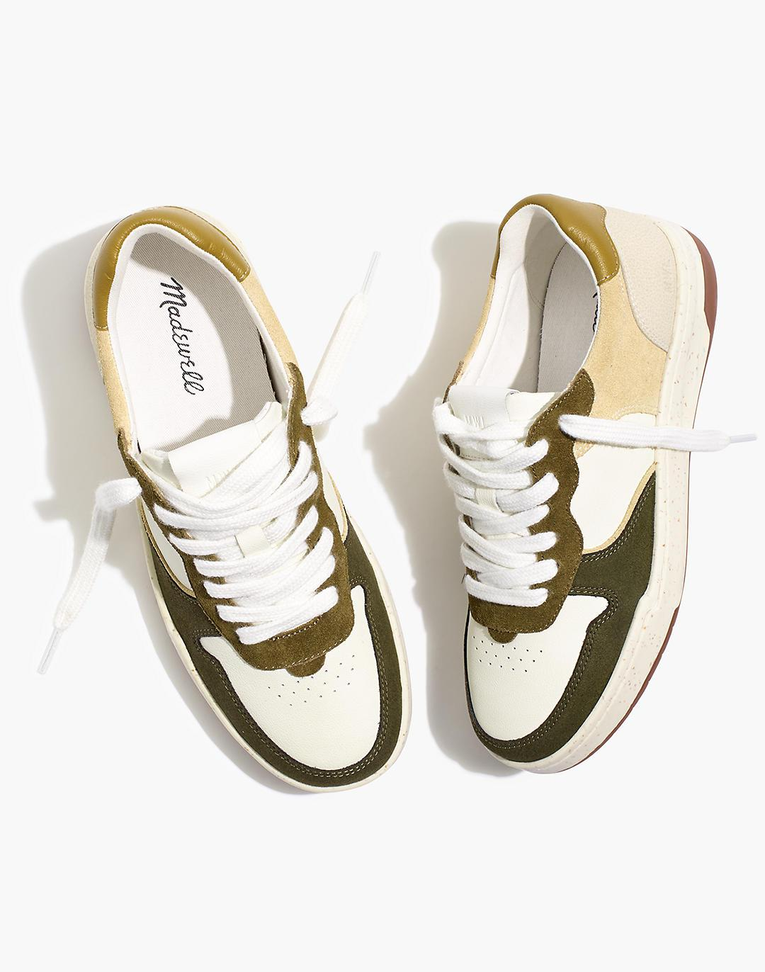 Court Sneakers in Colorblock Leather and Suede