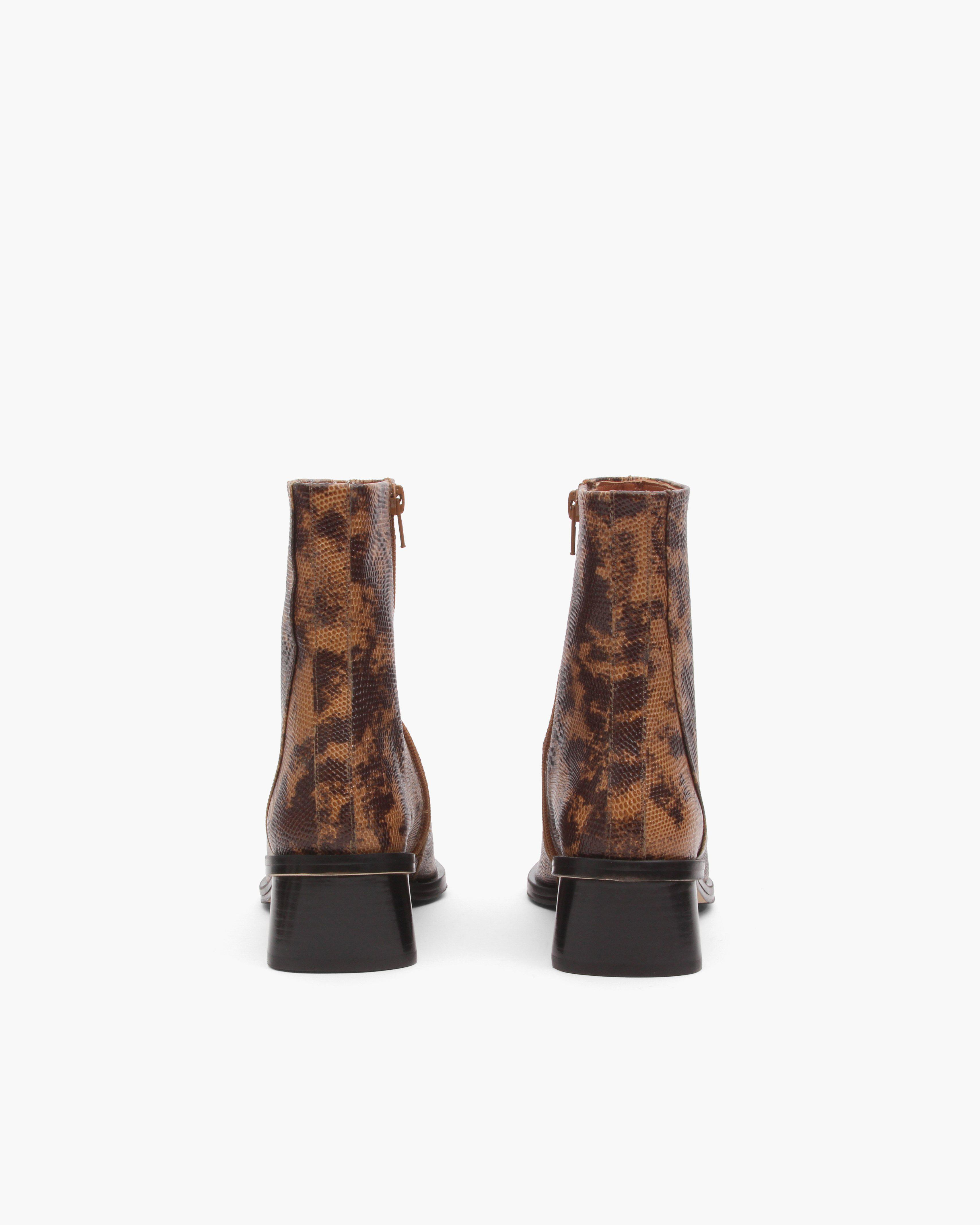 Miki Boots Leather Lizard Natural 2