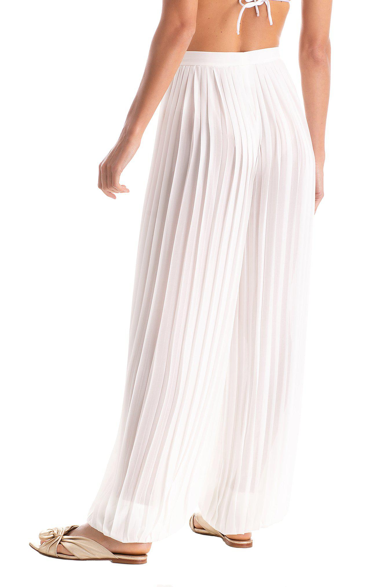 Solid Pleated Pants 2