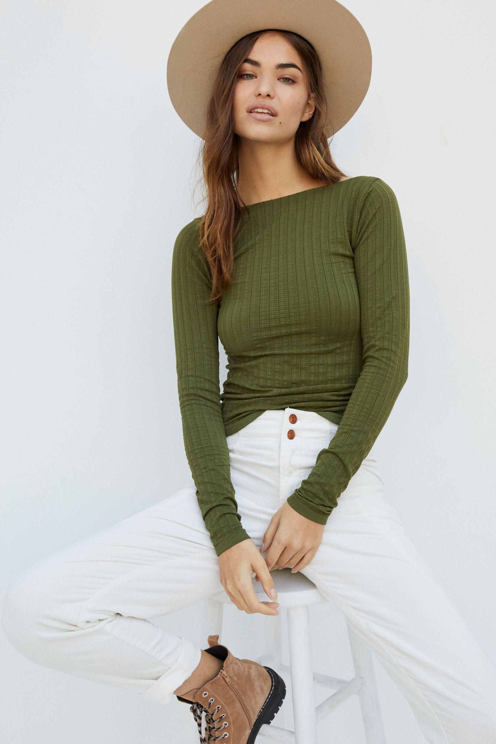 Aidy Seamless Scoop-Back Top
