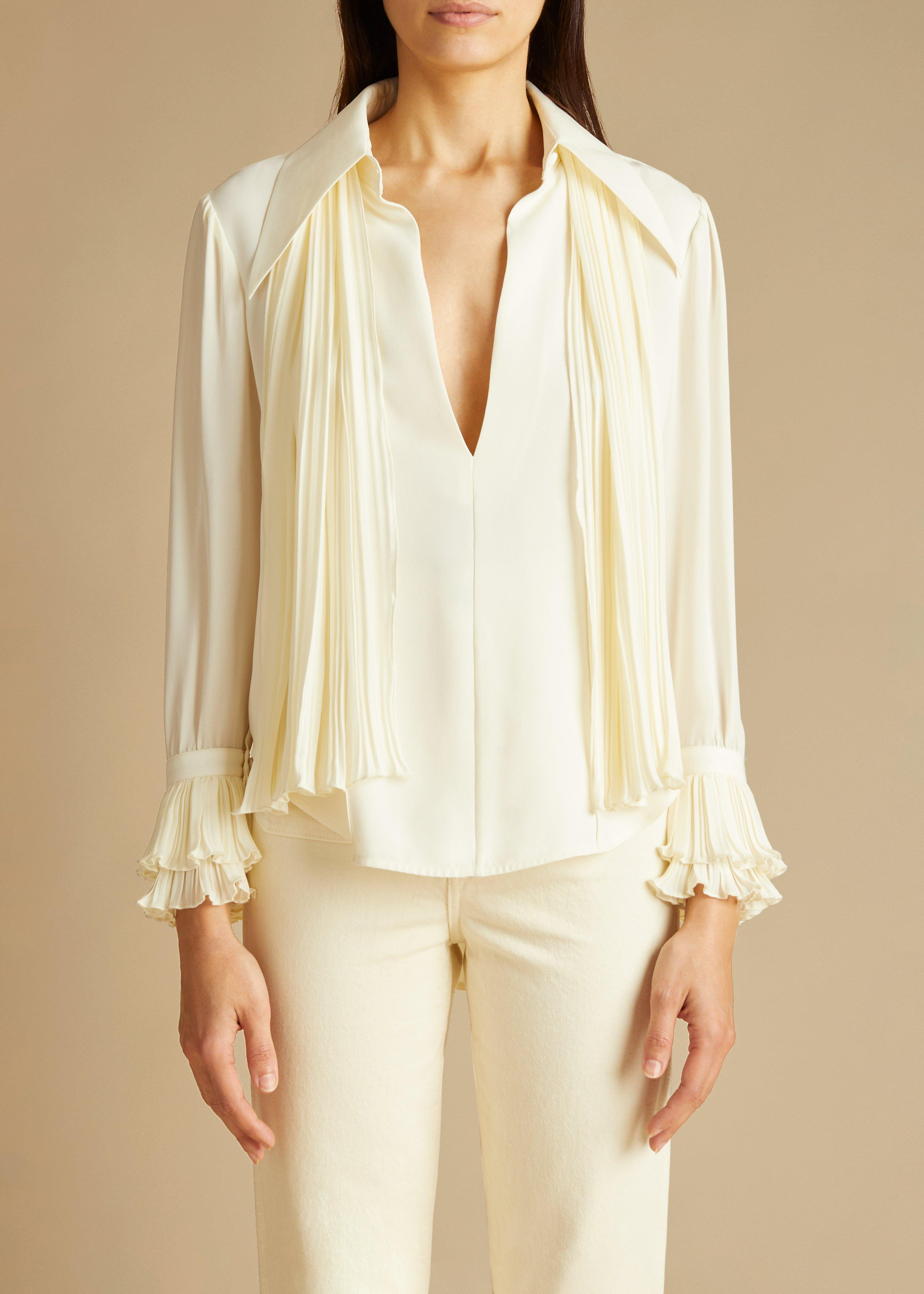 The Nia Top in Ivory 0