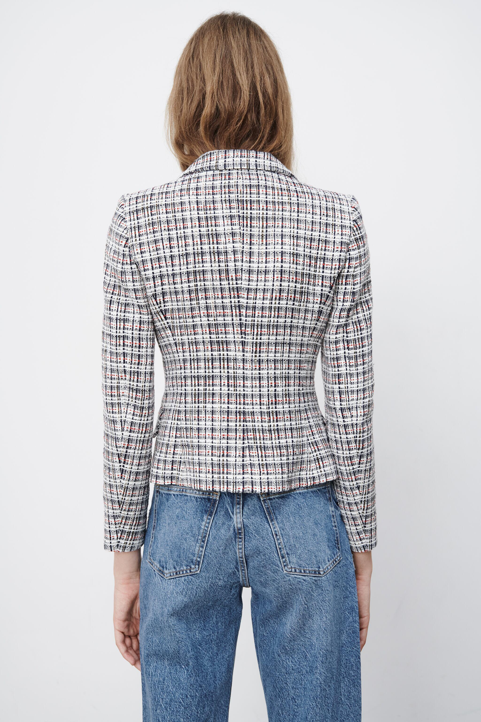 DOUBLE BREASTED TEXTURED WEAVE JACKET 7