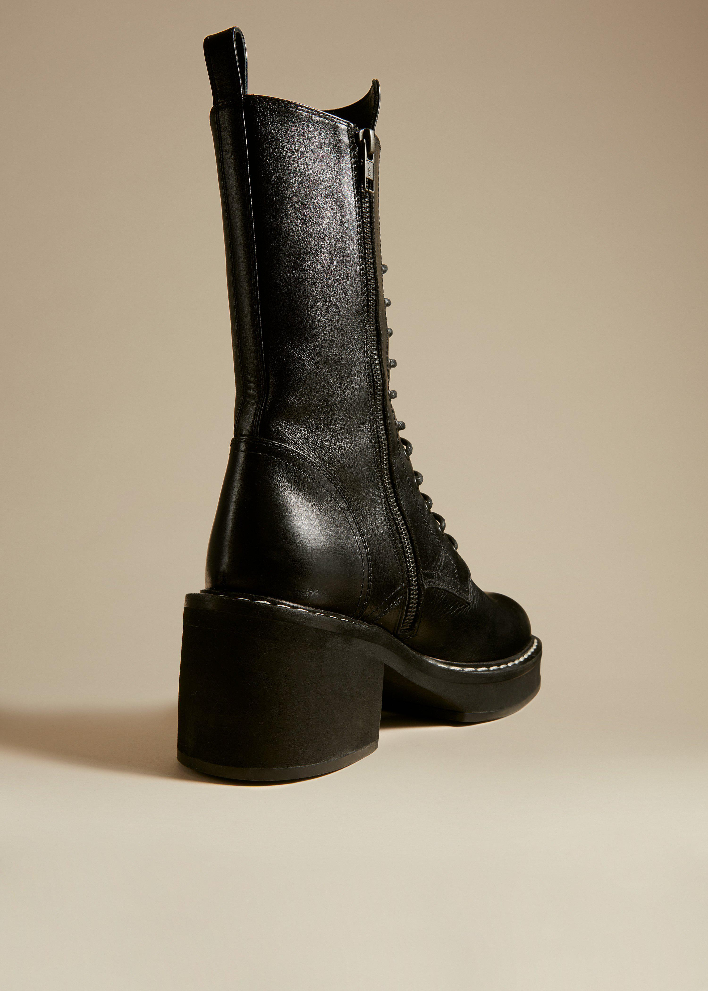 The Cody Boot in Black Leather 3