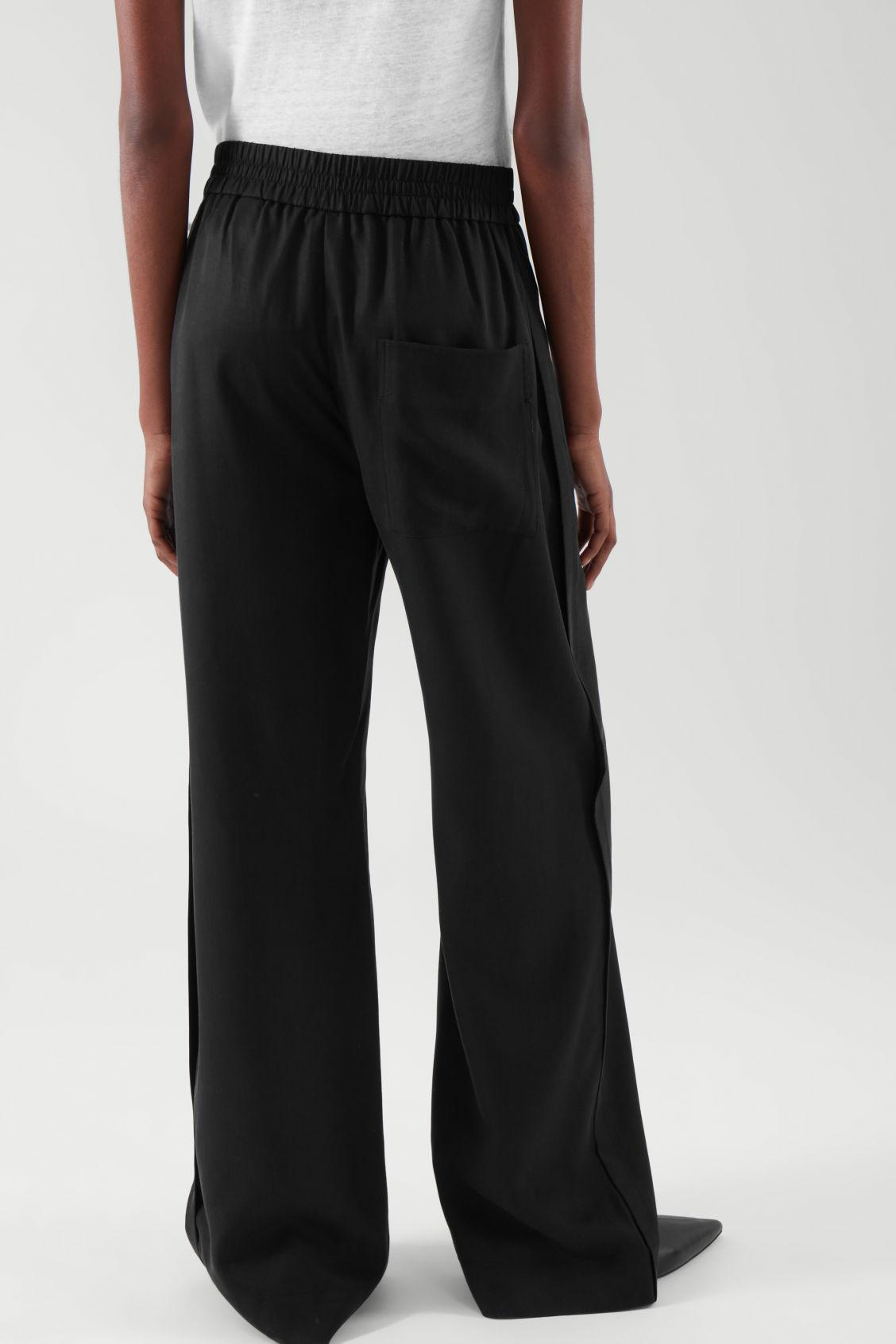 ELASTICATED RELAXED-LEG TROUSERS 4