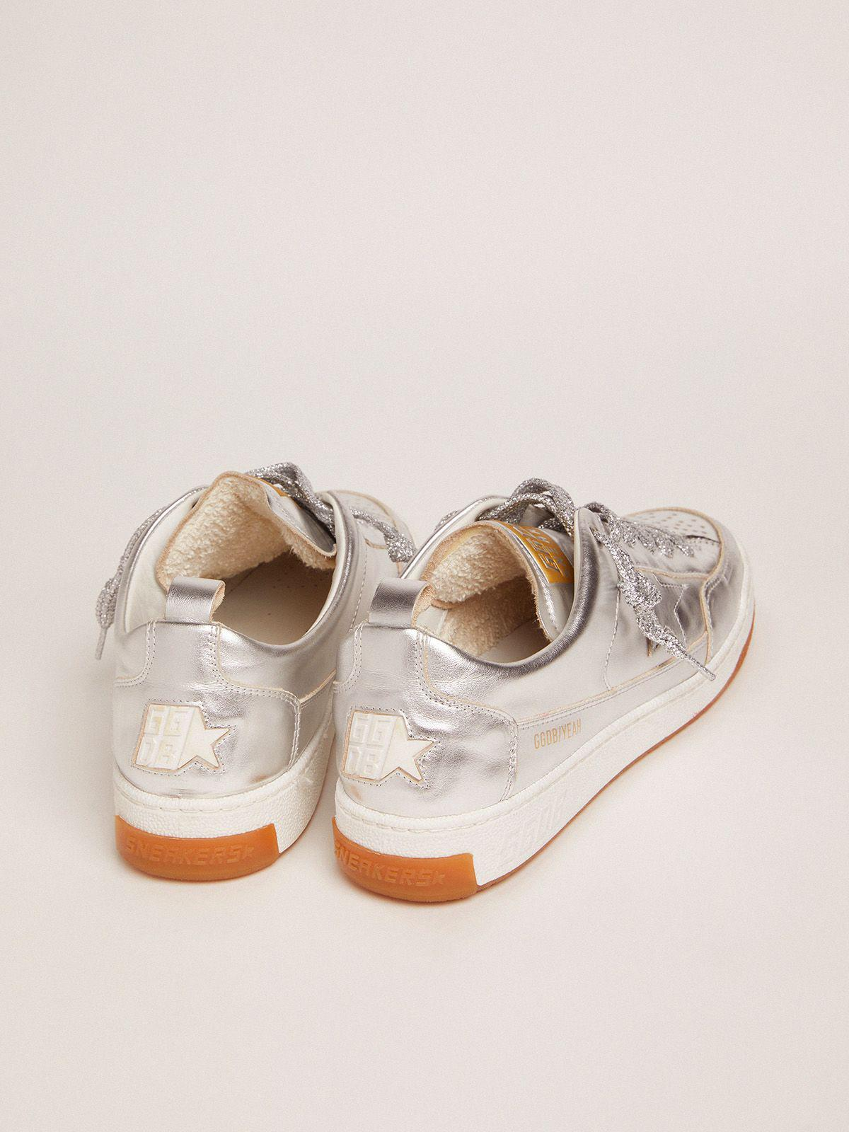 Yeah sneakers in silver laminated leather 3