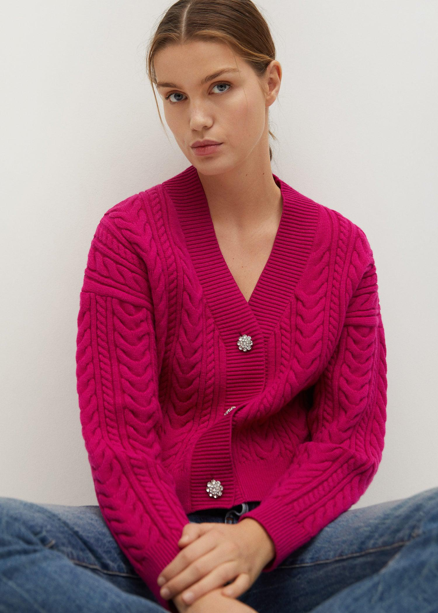 Combined knitted cardigan 5